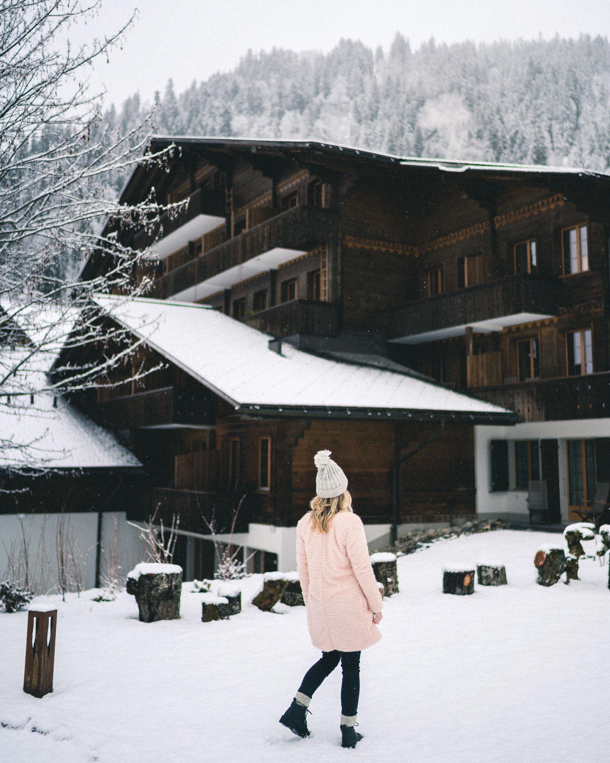 Huus Gstaad Switzerland in the Snow