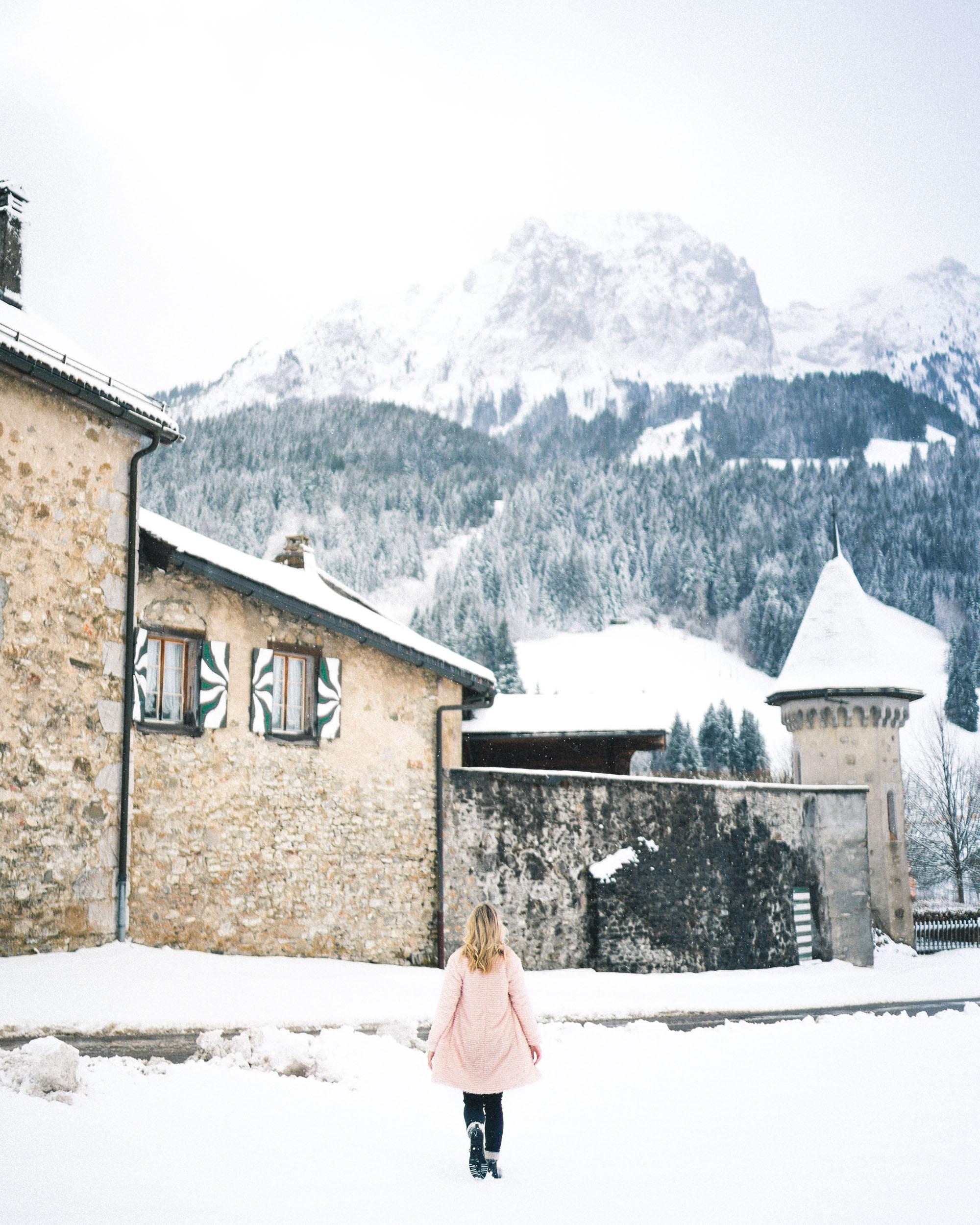 Gstaad, Saanen, Switzerland in the Swiss Alps