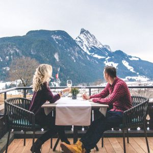 dinner in the swiss alps at huus gstaad via @finduslost