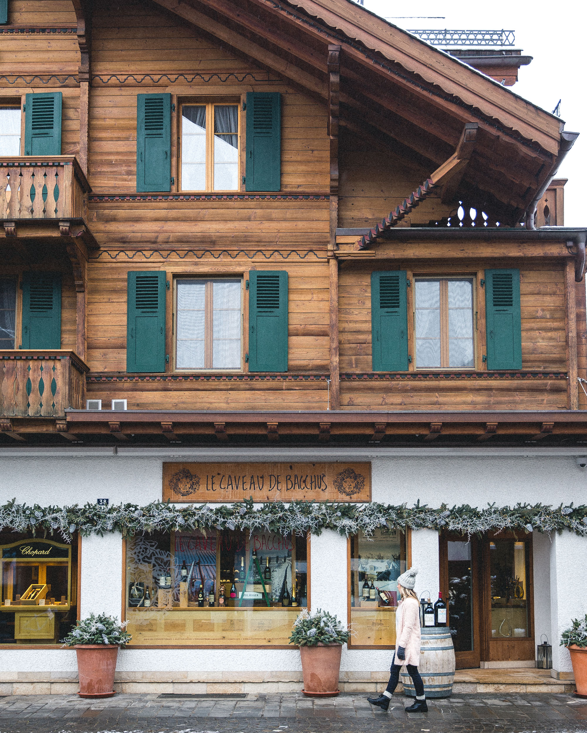 Downtown Gstaad Switzerland Quaint Swiss Town