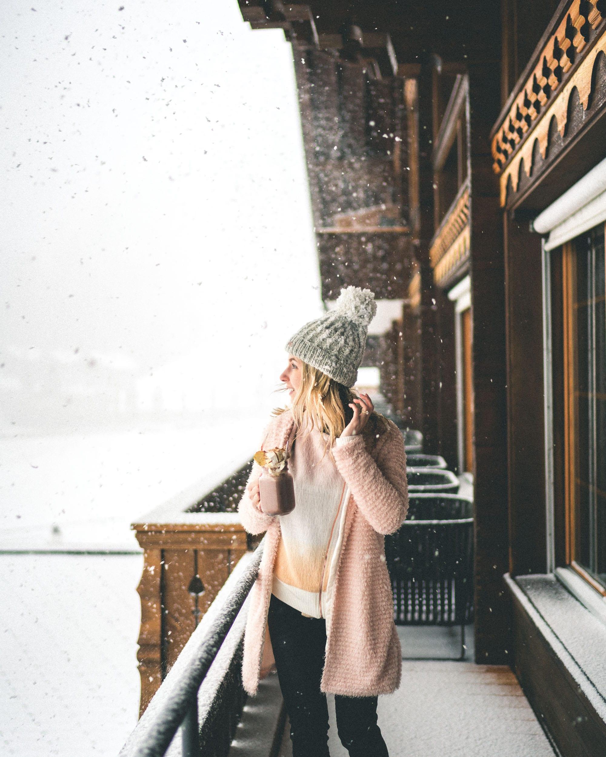 Snow at Huus Gstaad in Gstaad, Saanen, Switzerland