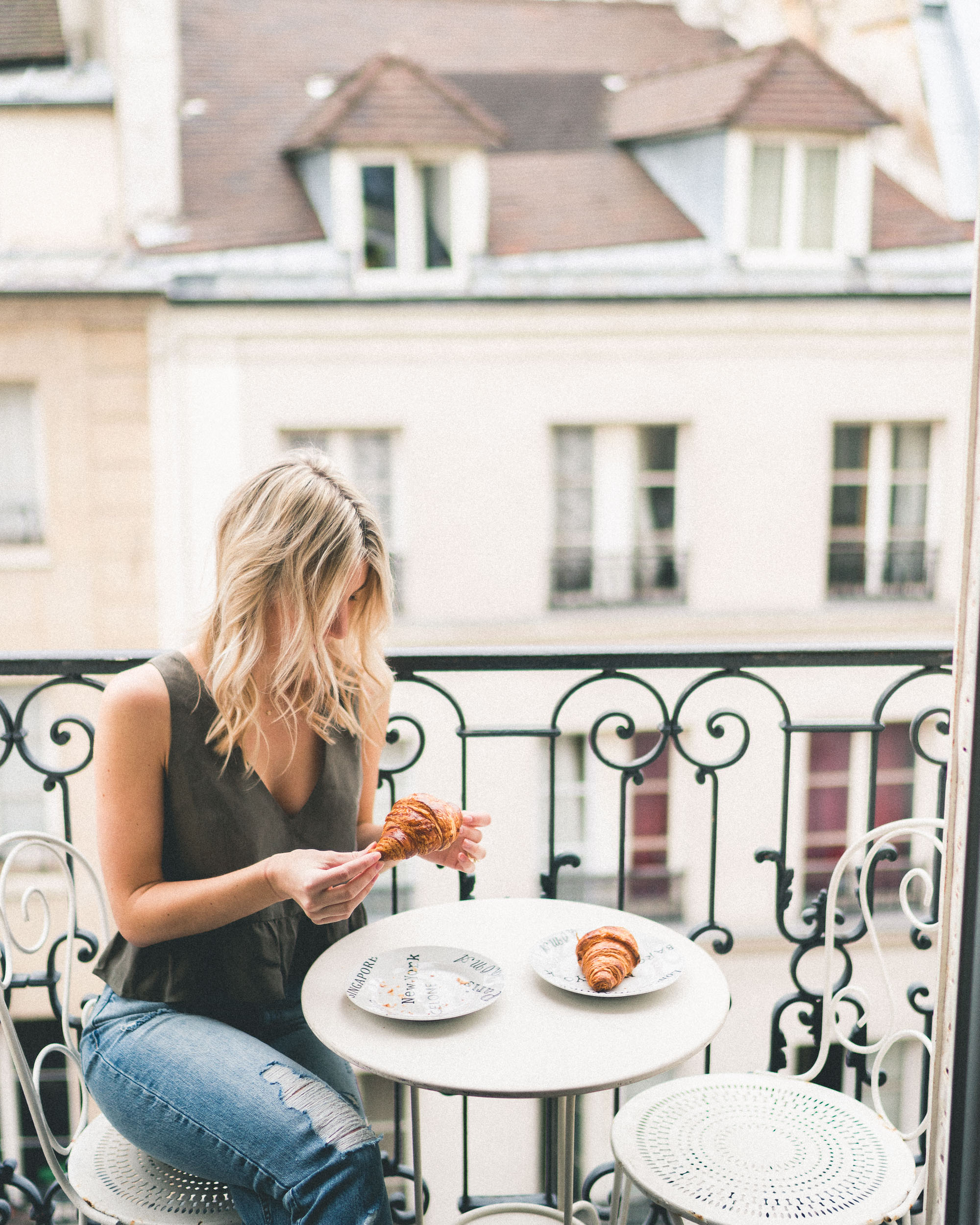 French croissants for breakfast in our paris airbnb - Complete Paris Travel Guide
