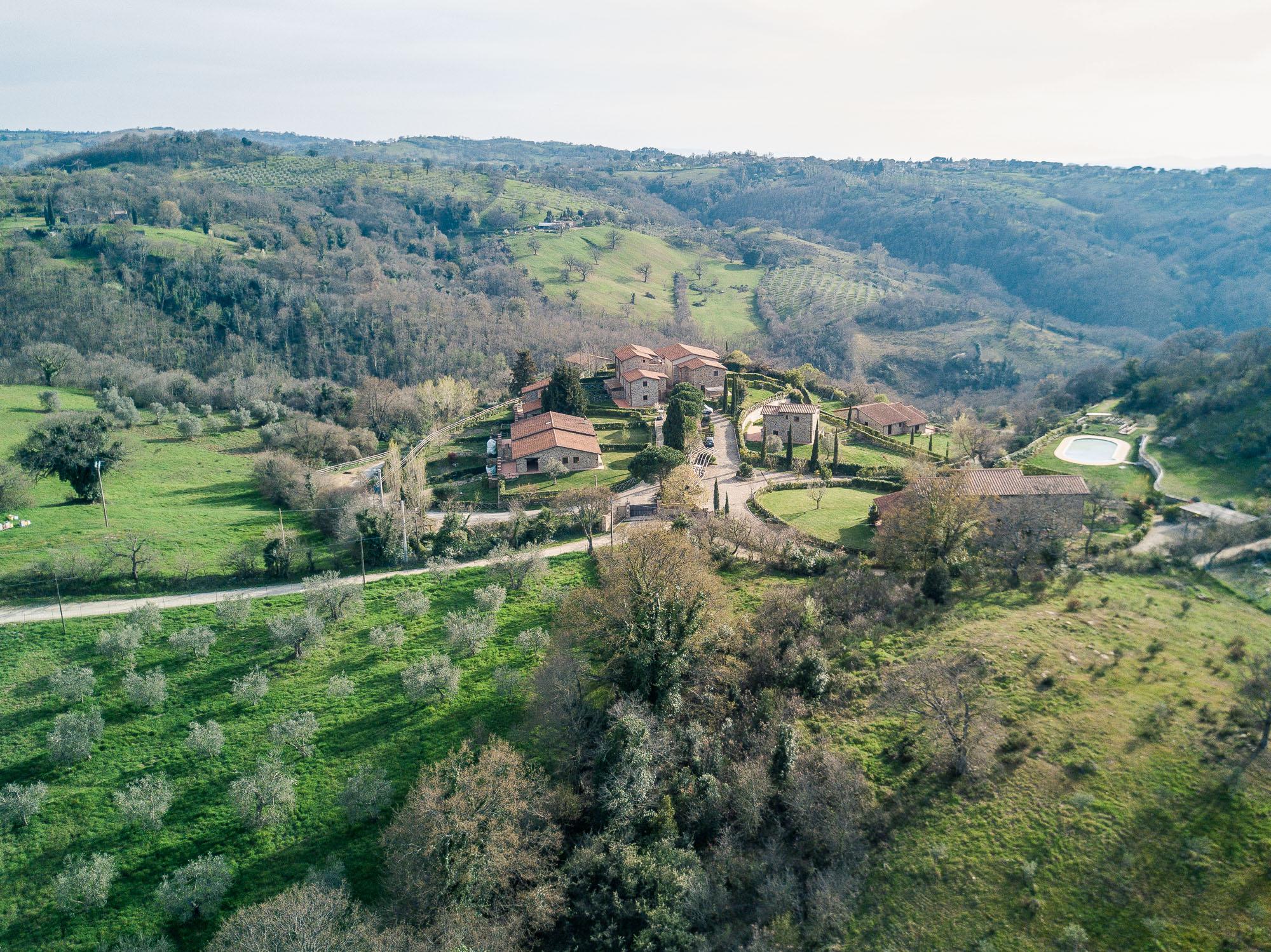 Borgo Case Bardi tuscan villa in wine tasting region of southern Tuscany, Italy
