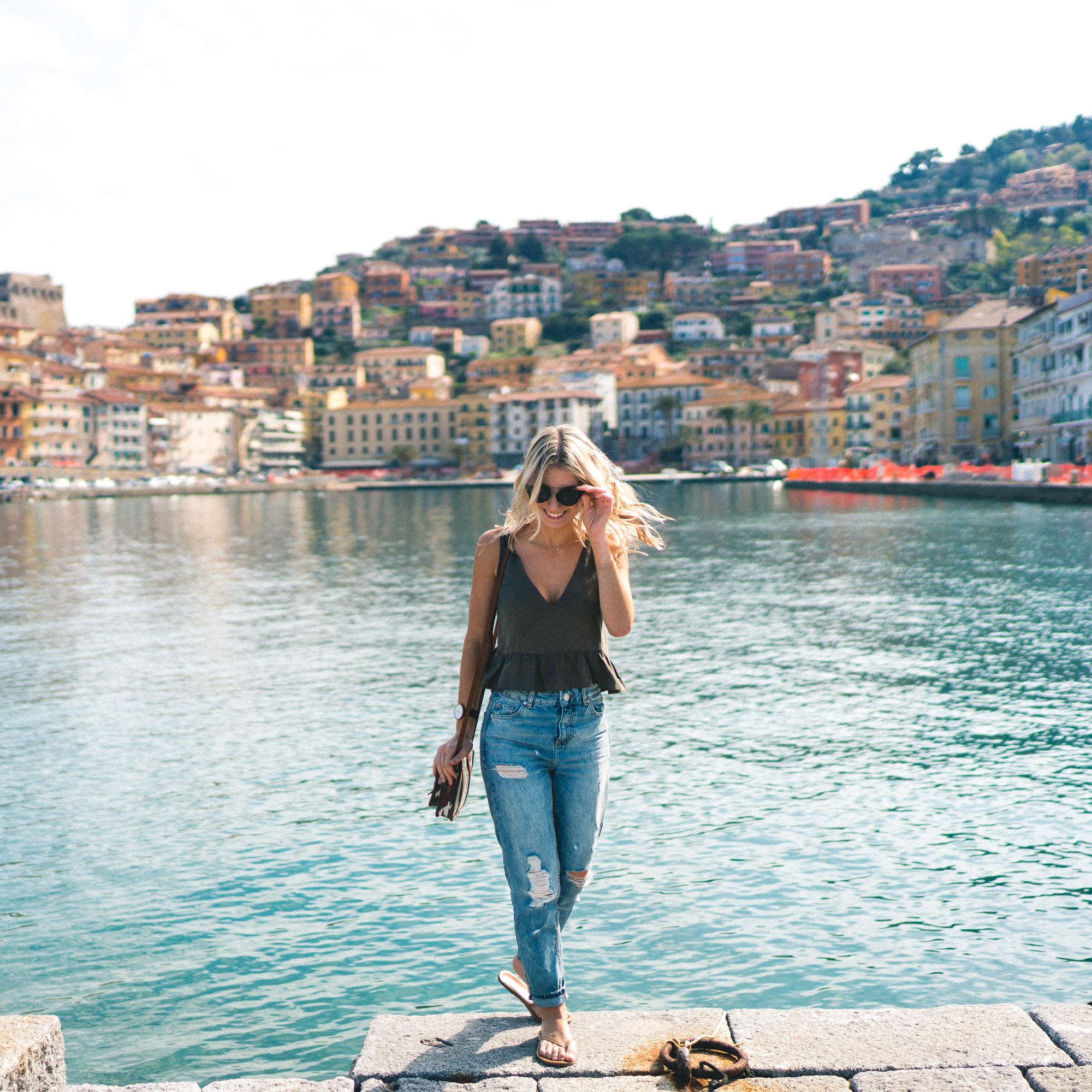 Porto Santo Stefano seaside town in southern Tuscany, Italy