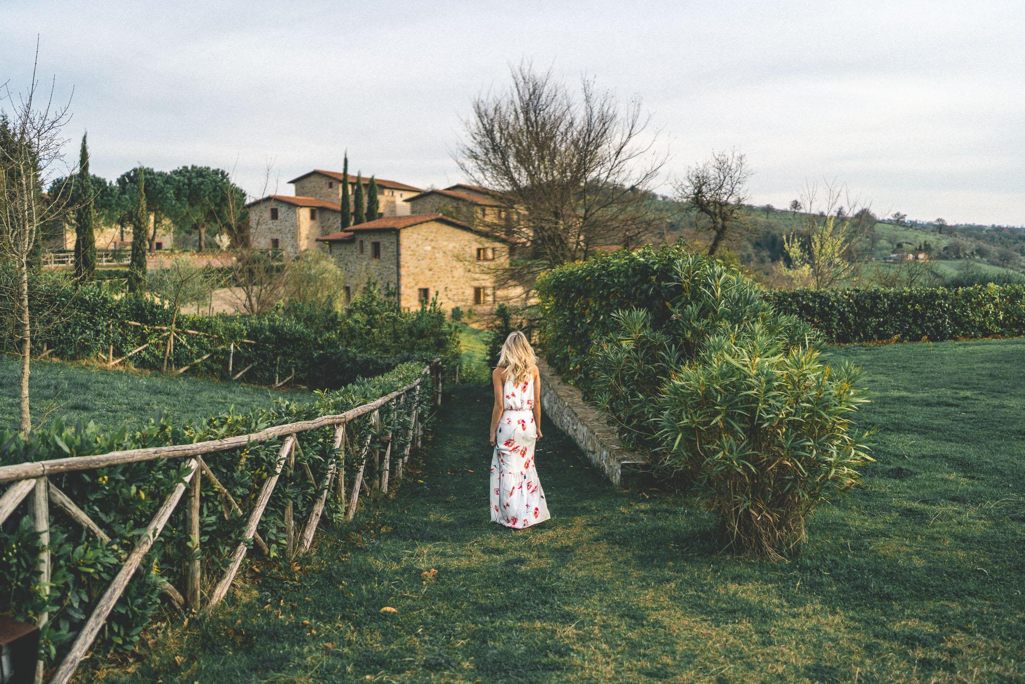 Romantic Borgo Case Bardi tuscan villa in southern Tuscany, Italy