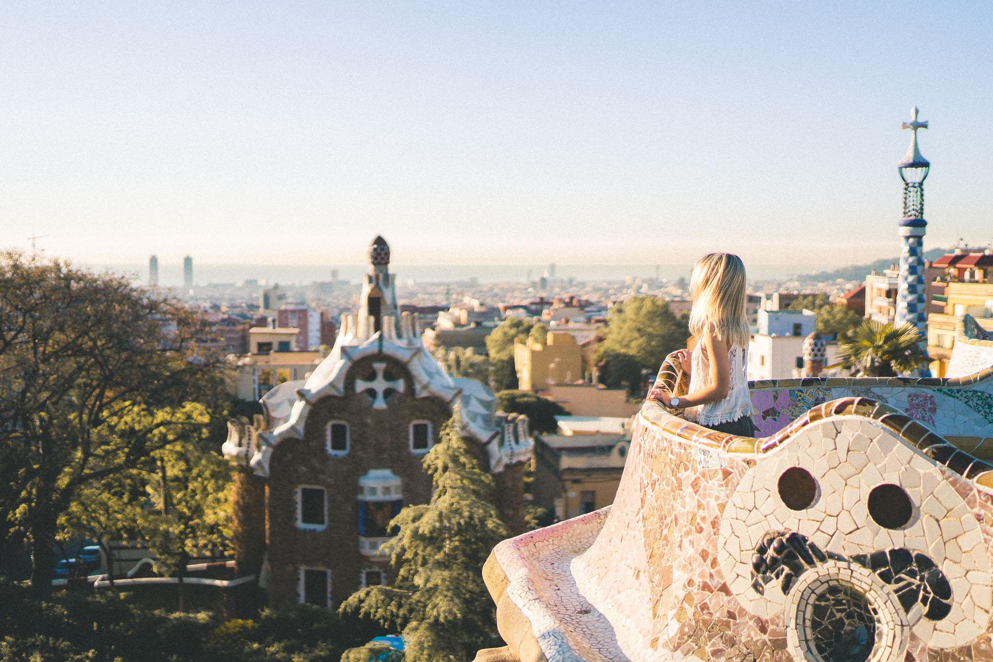 Park Guell - Gaudi Architecture garden in Barcelona, Spain