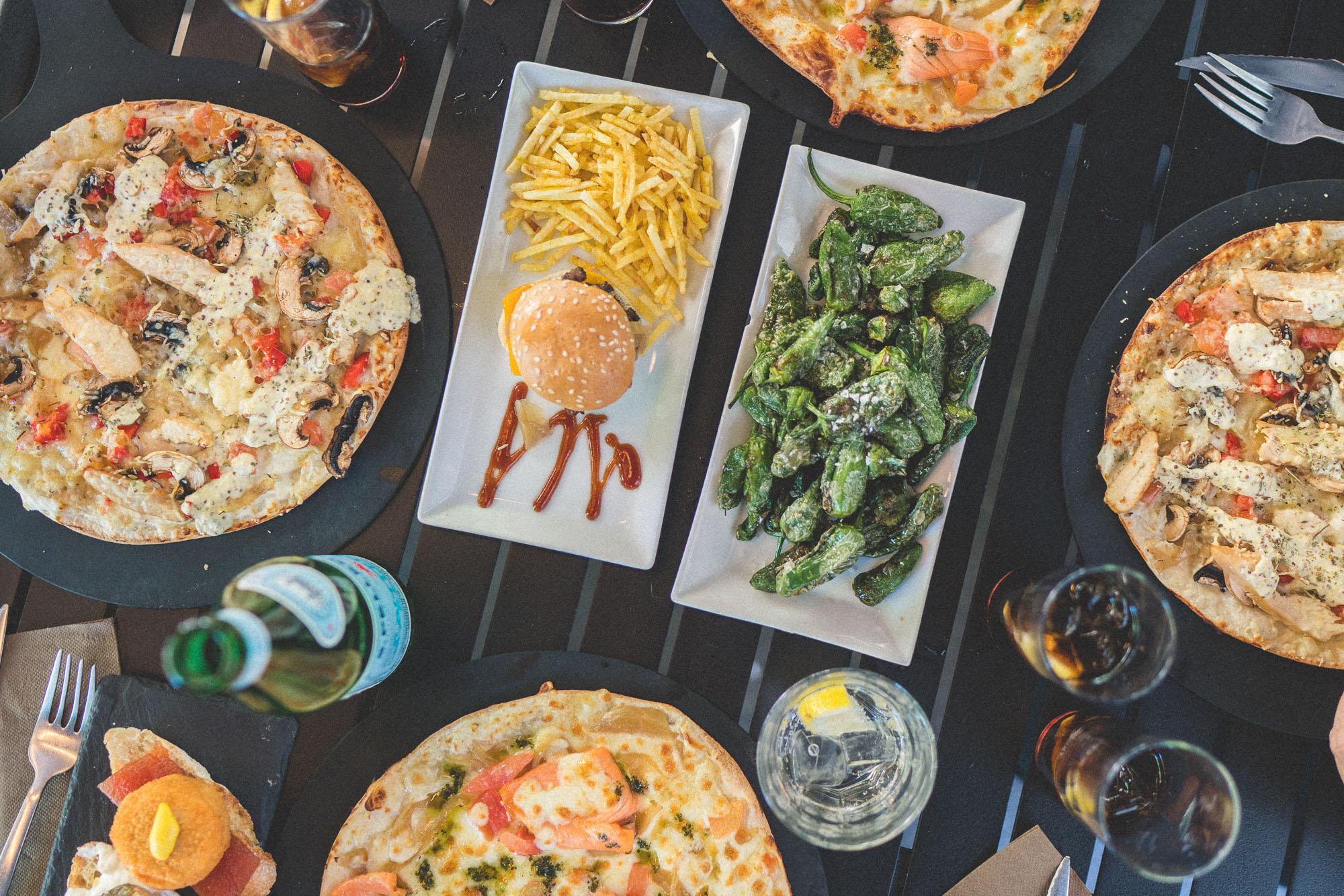 Lunch on La Rambla, Barcelona, Spain