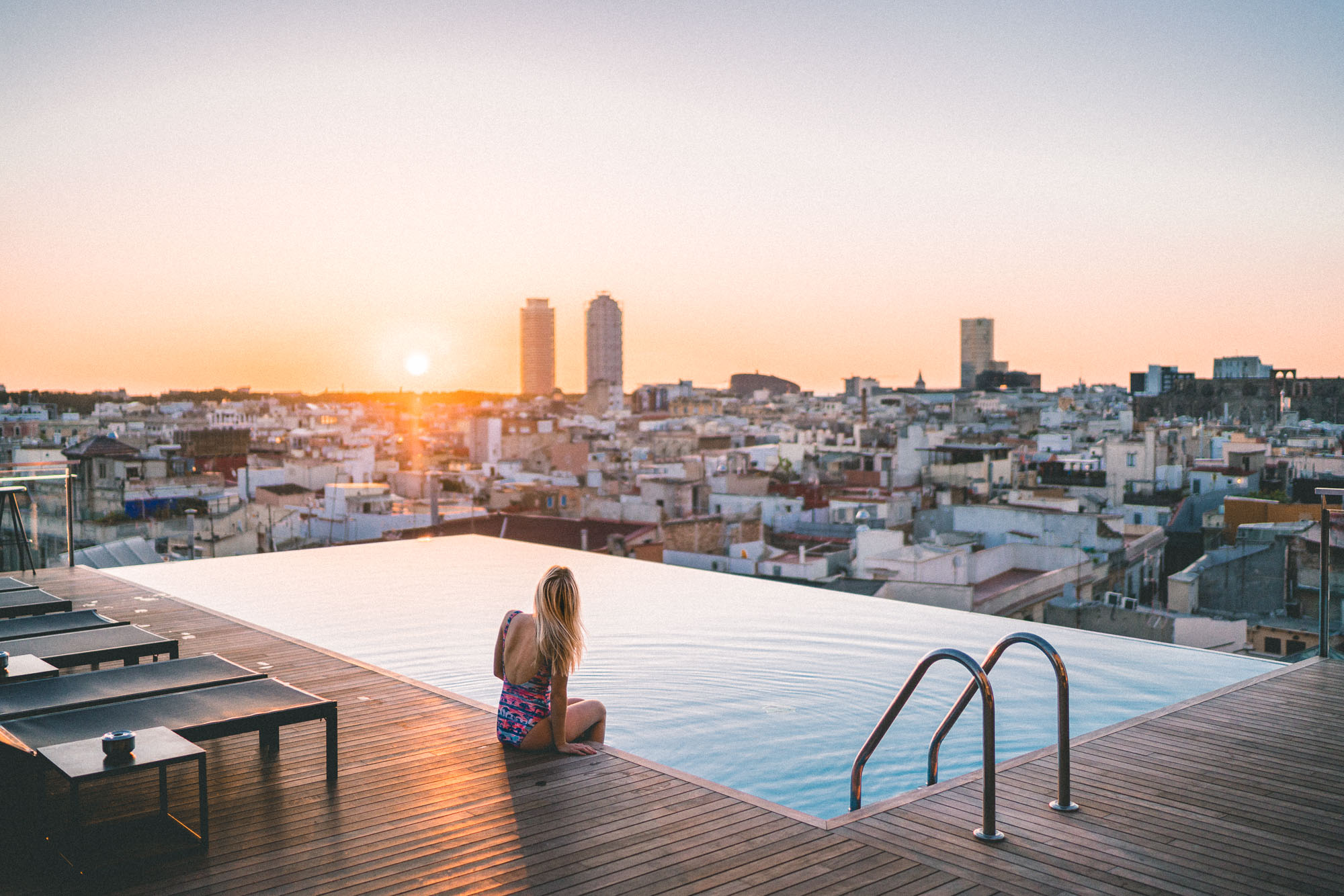 Rooftop views in Barcelona, Spain