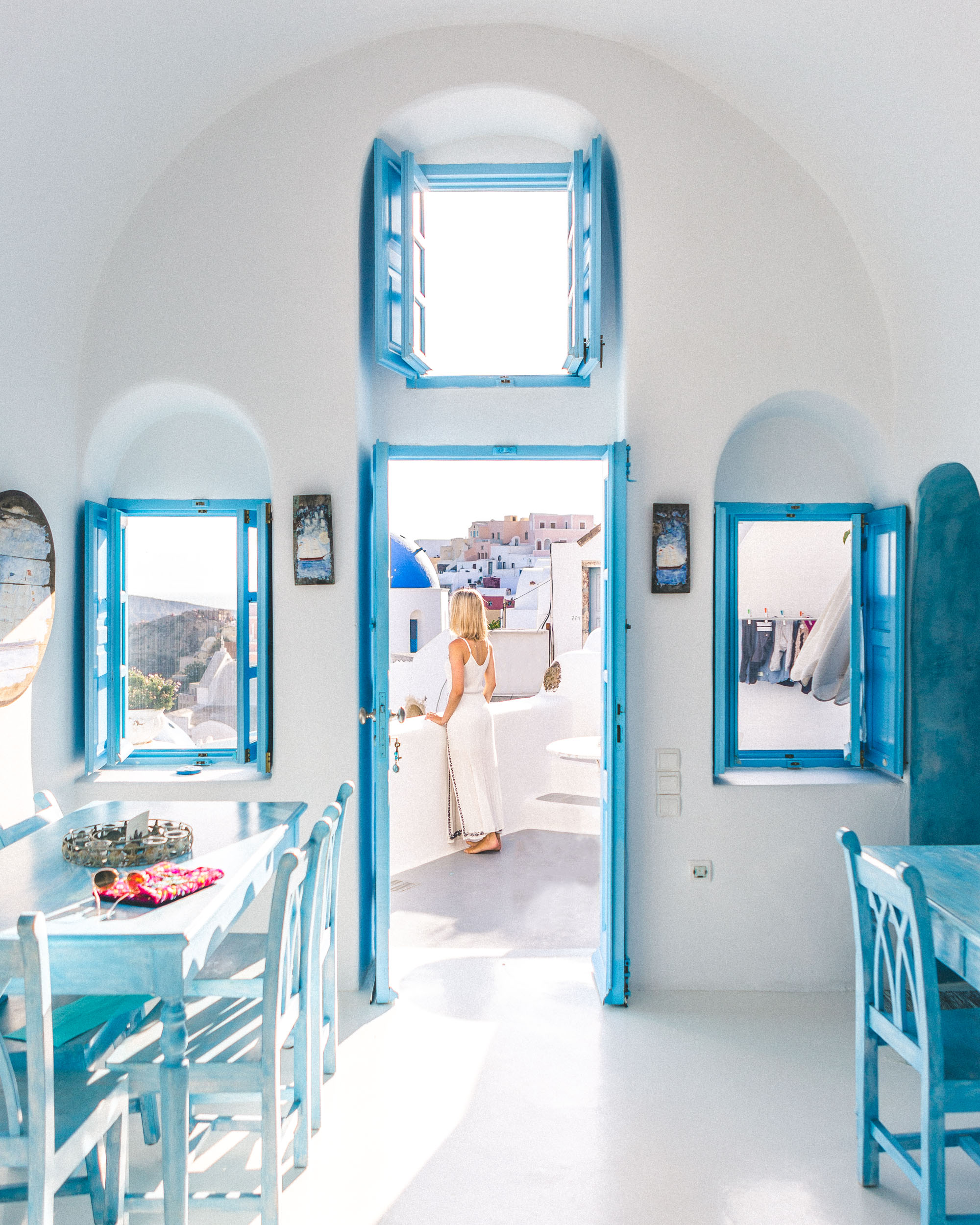 Modern Blue Kitchen The Complete Santorini Greece Travel Guide Find Us Lost
