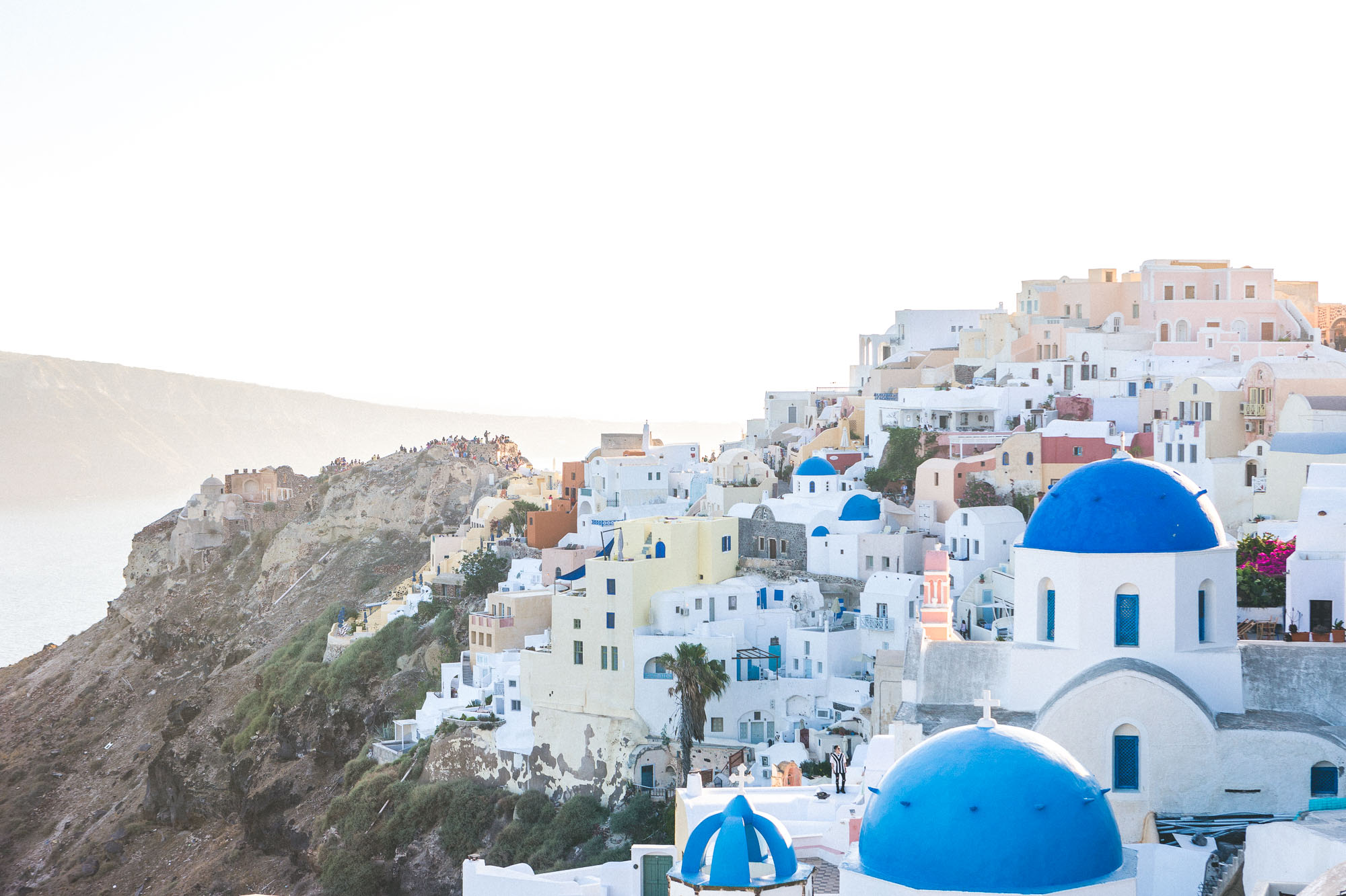 Picture perfect pastels in Oia, Santorini, Greece