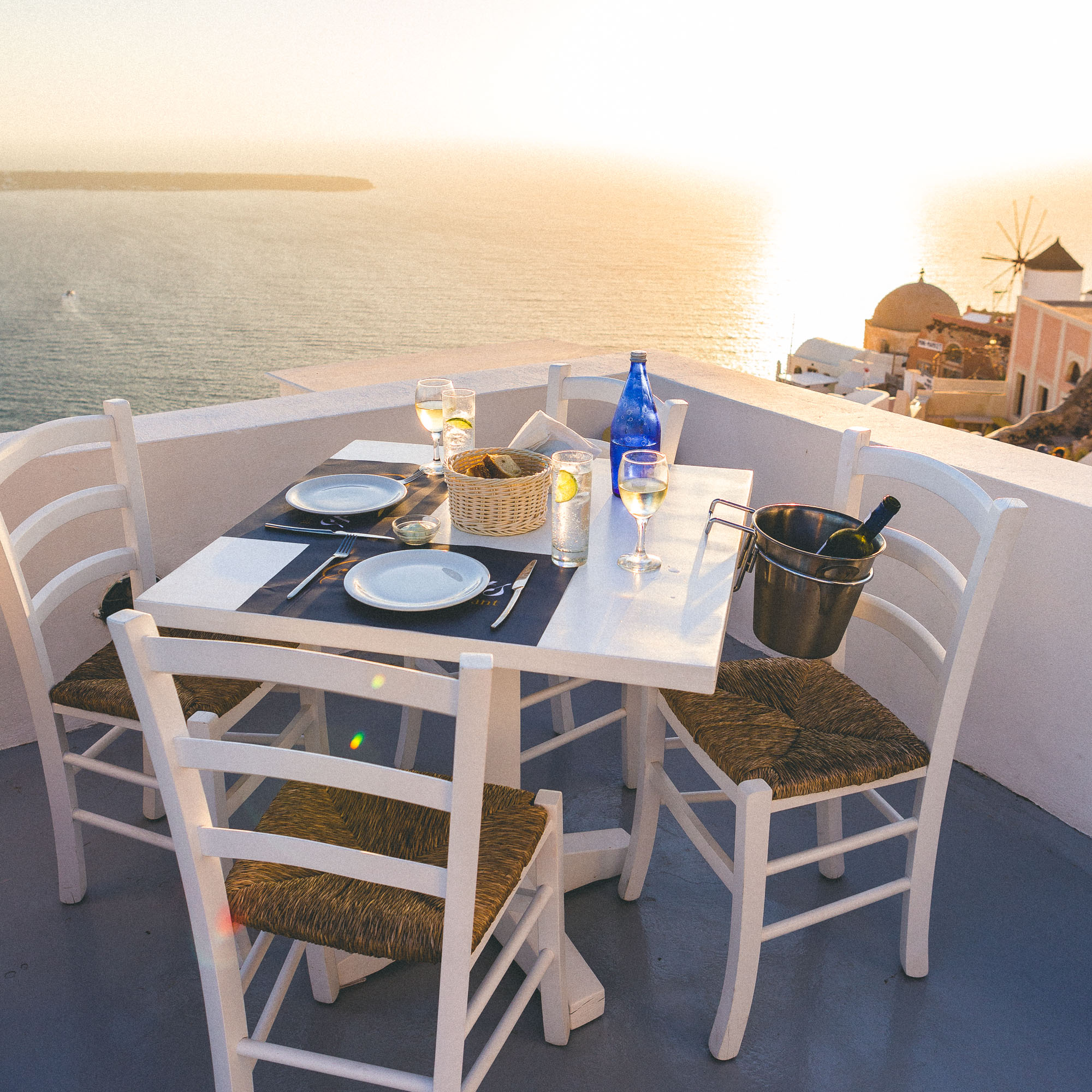Sunset Restaurant in Oia, Santorini, Greece