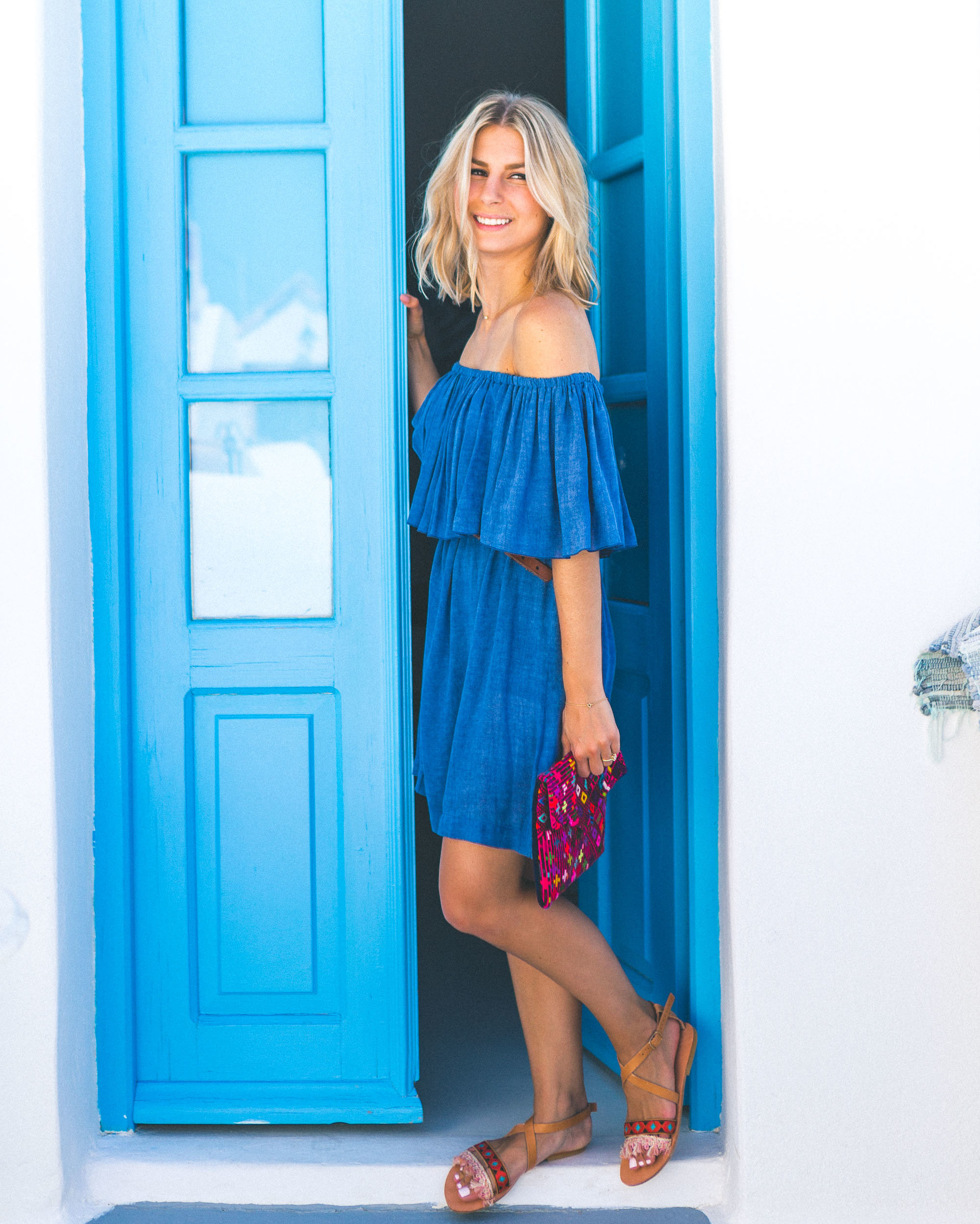 Greek islands style fashion Selena Taylor Travel Blogger Find Us Lost