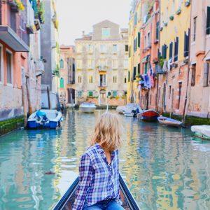 gondola canal boat ride in venice italy