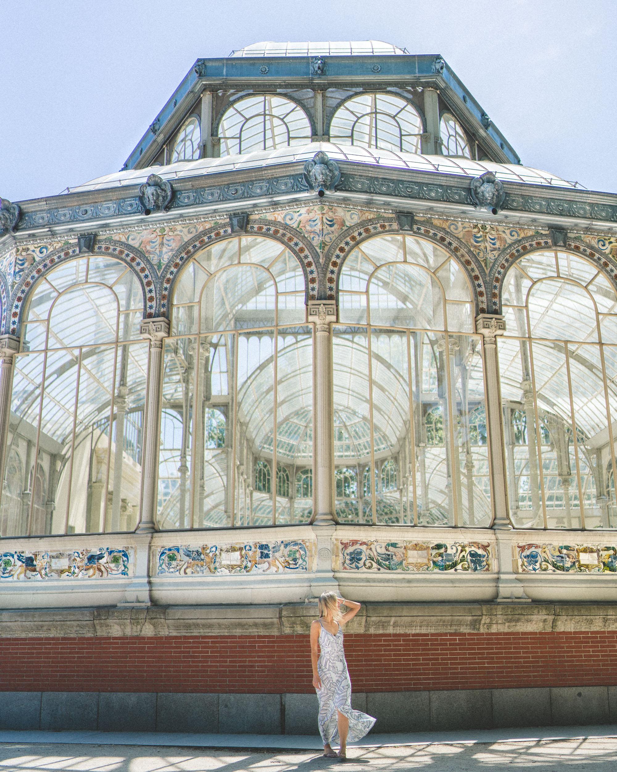 Crystal Palace in Madrid Parque de El Retiro Spain
