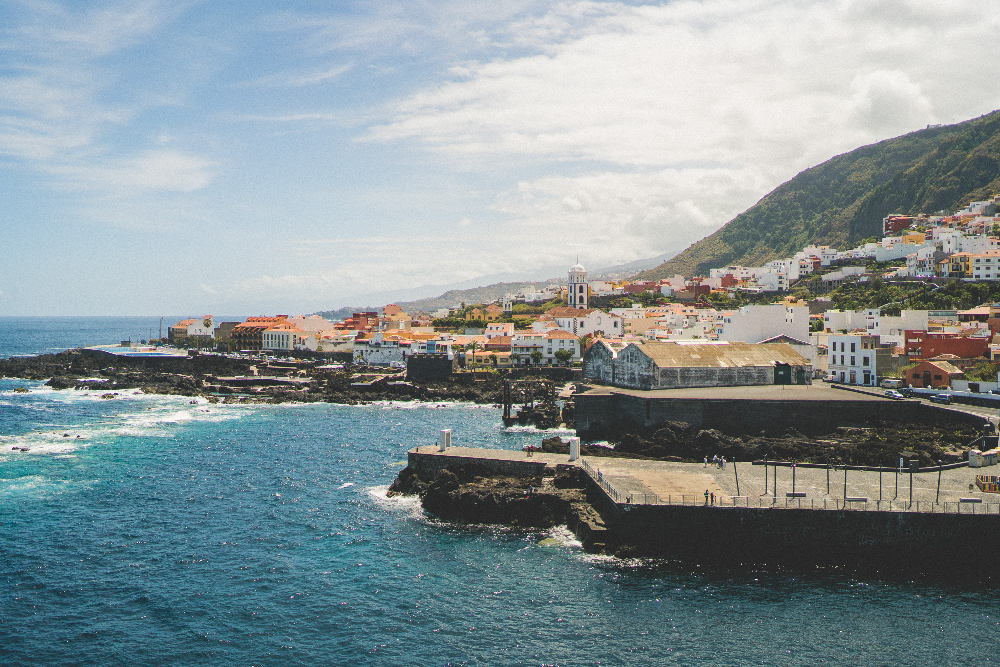 Garachico town in Tenerife, Canary Islands, Spain