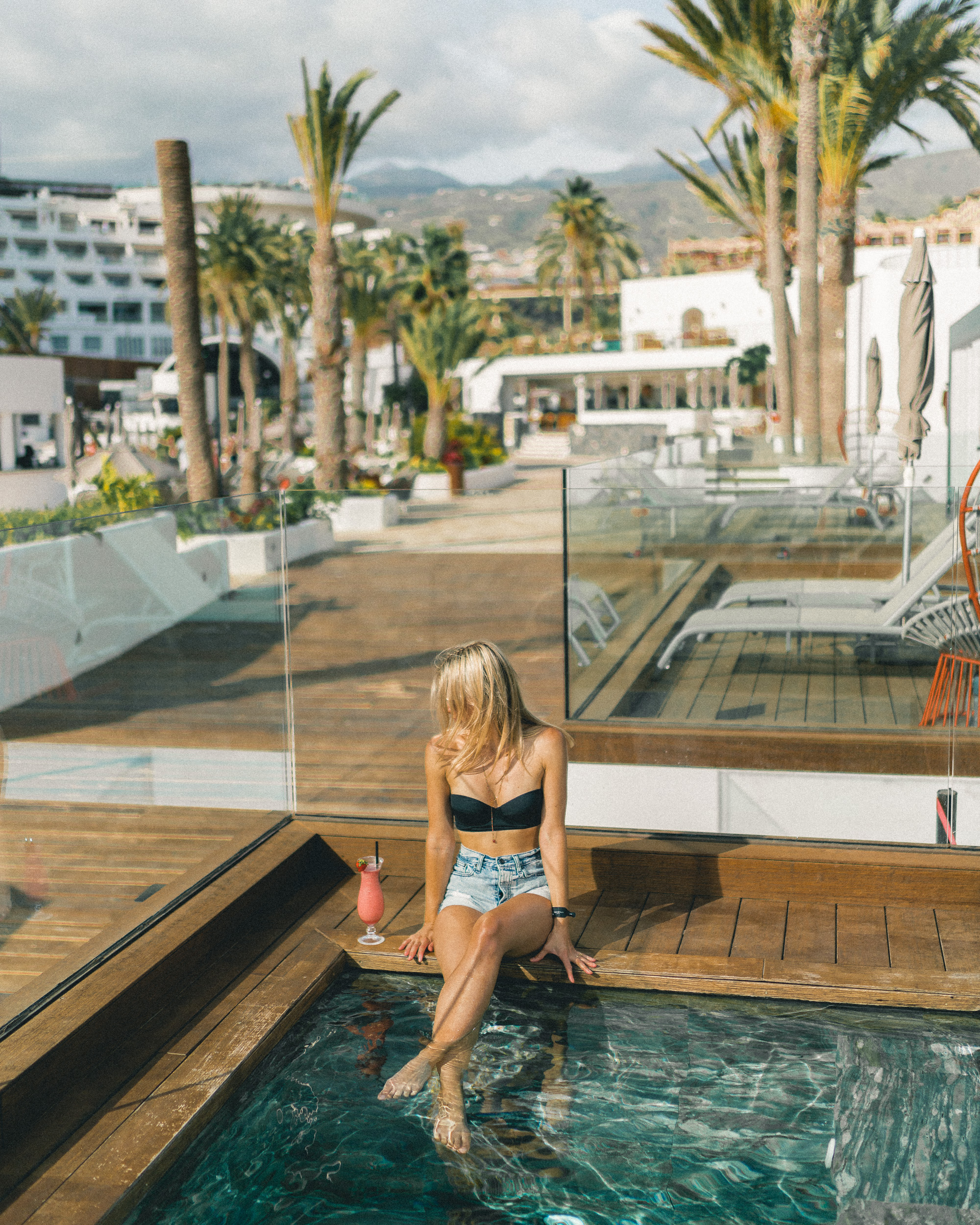 Hard Rock Hotel pool in Tenerife, Canary Islands, Spain