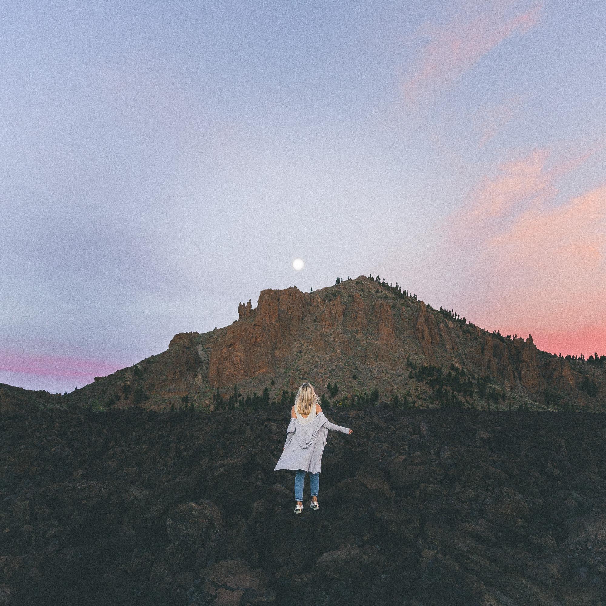 Exploring El Teide Volcano in Tenerife at sunrise, Canary Islands, Spain