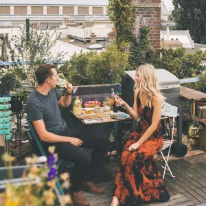 A homemade dinner in Amsterdam, The Netherlands | Home-cooked dinner experience in the city | Seasonal Dutch Dinner by Vizeat | Rooftop meal in Holland