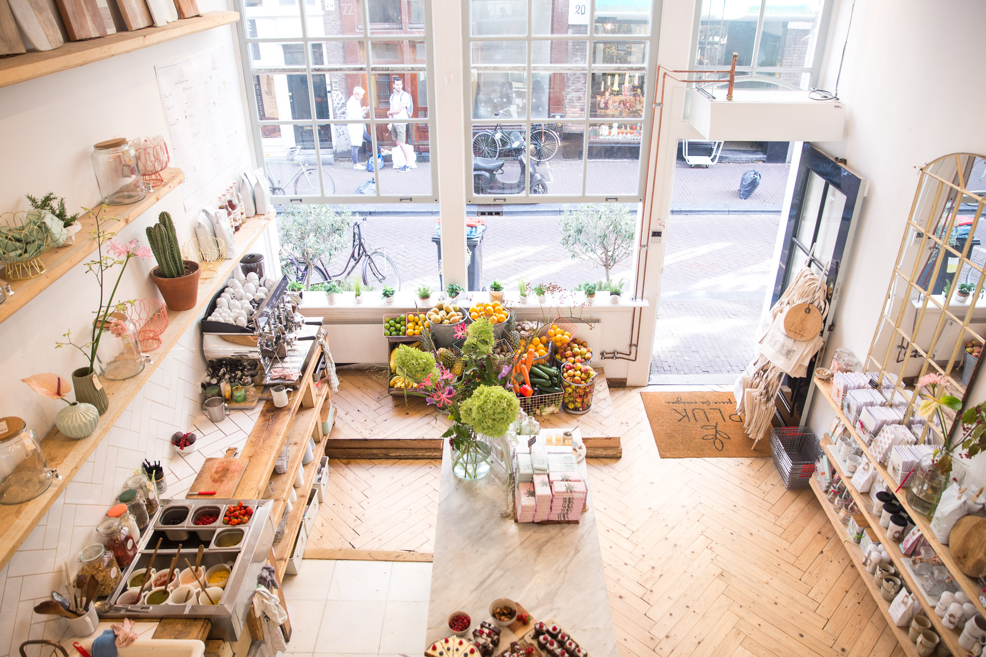 Pluk Amsterdam, a trendy cafe in the 9 streets of Amsterdam's city center, The Netherlands
