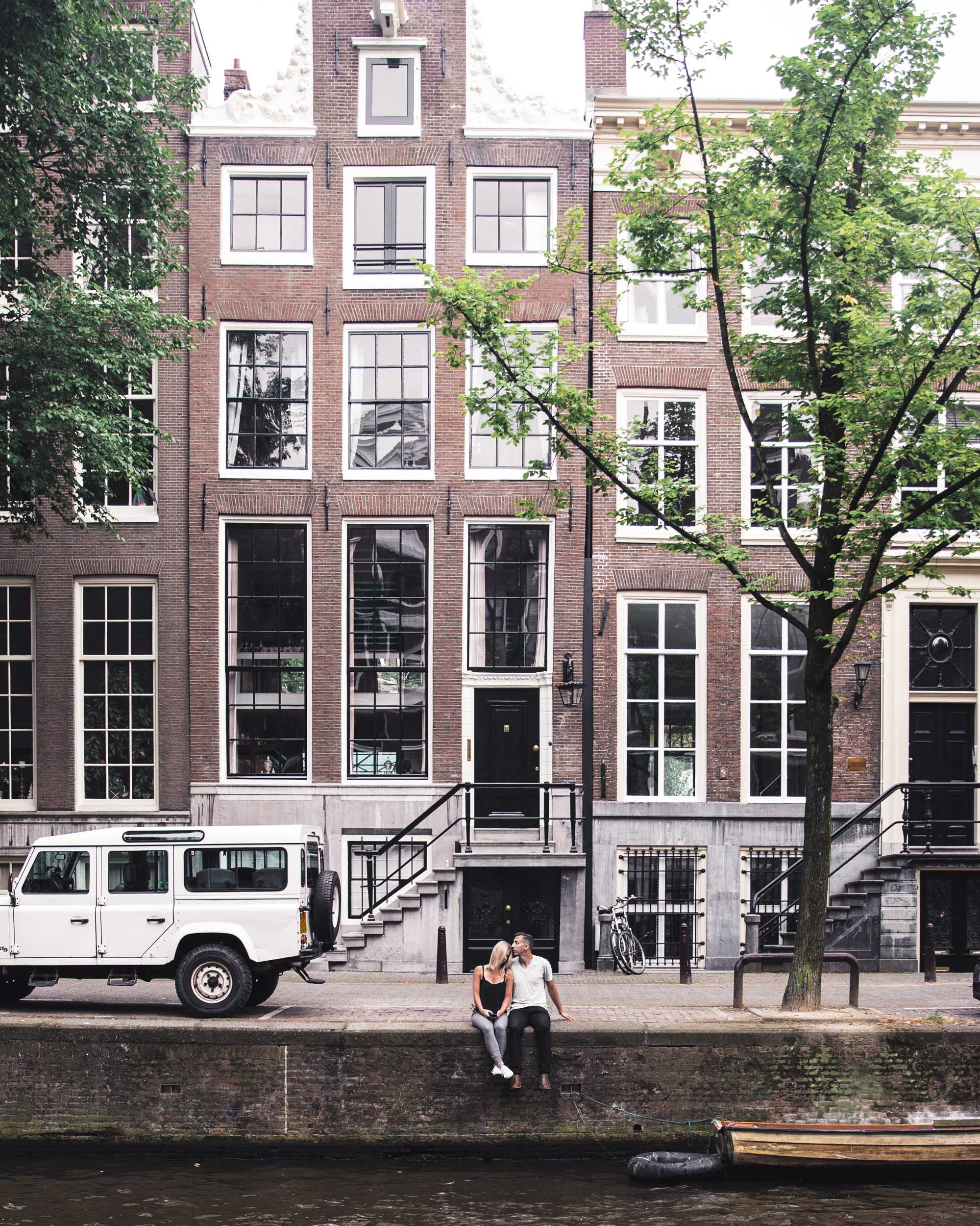 Traditional canal houses in Amsterdam, Holland, The Netherlands