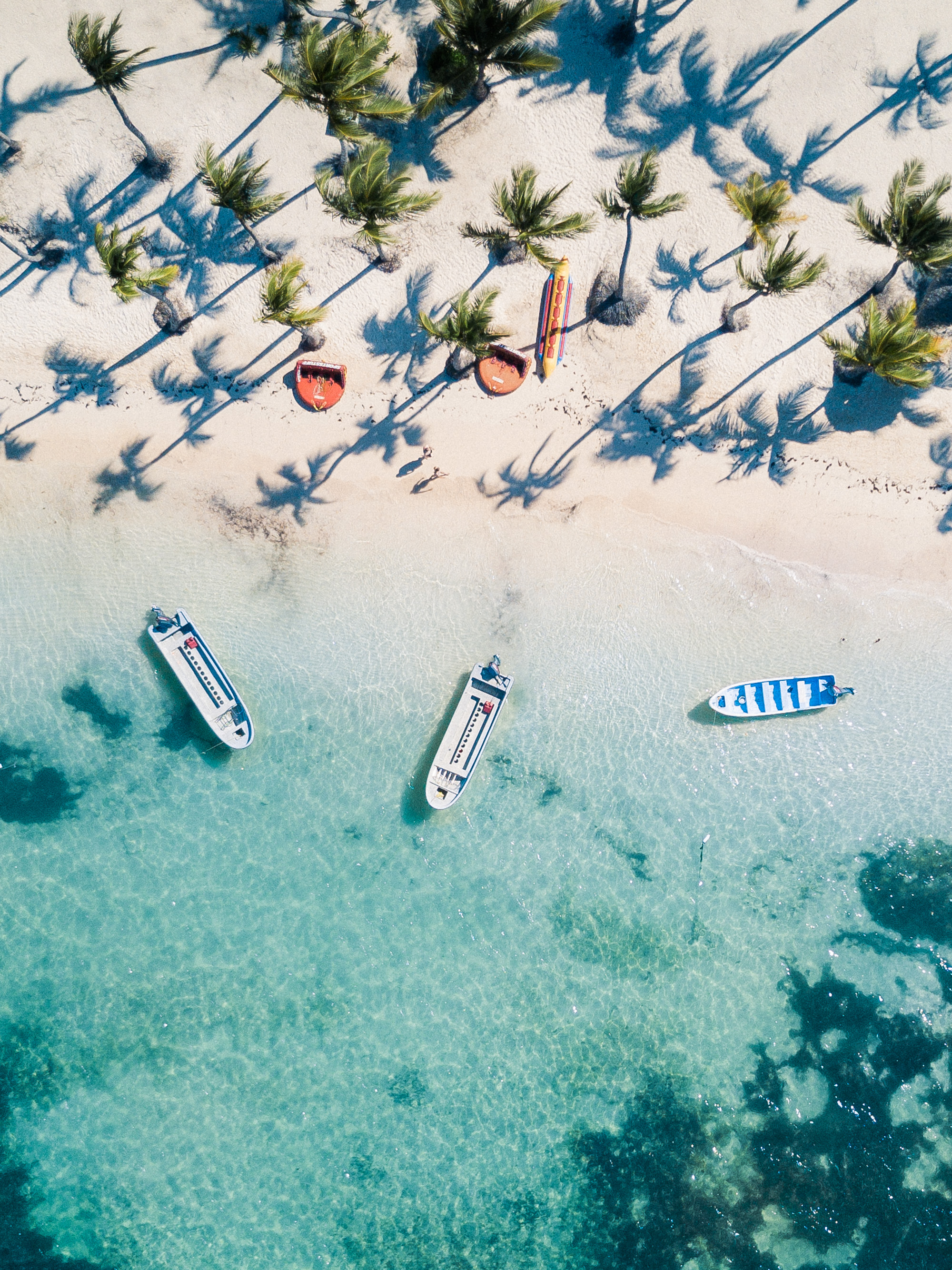 Clear blue water and white sand, Dominican Republic | Clear Blue Water in Punta Cana | Tropical Paradise Beach Getaways in the Caribbean | Islands Near North America