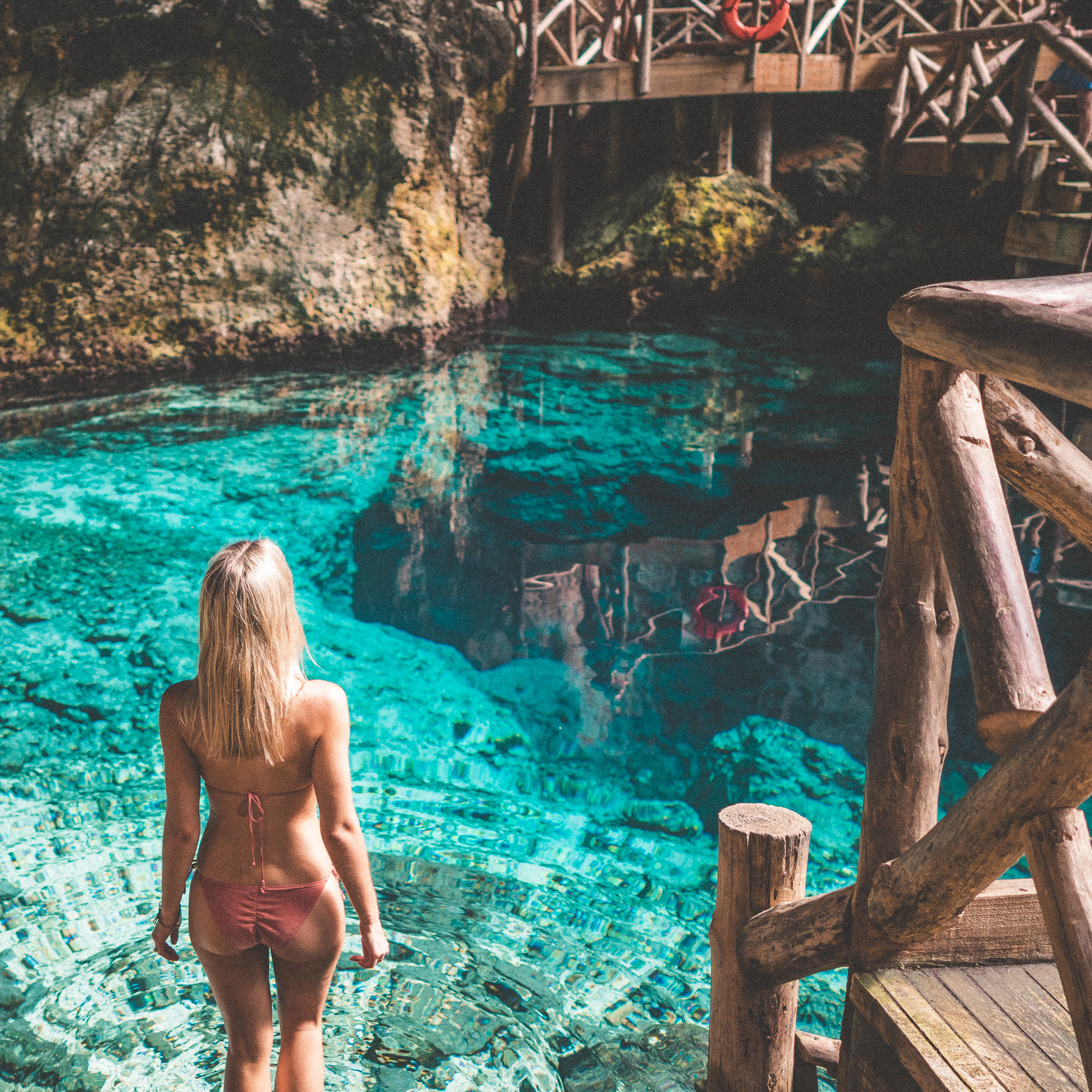 Swimming in Hoyo Azul (Blue Hole), Dominican Republic | Clear Blue Water in Punta Cana | Tropical Paradise Beach Getaways in the Caribbean | Islands Near North America