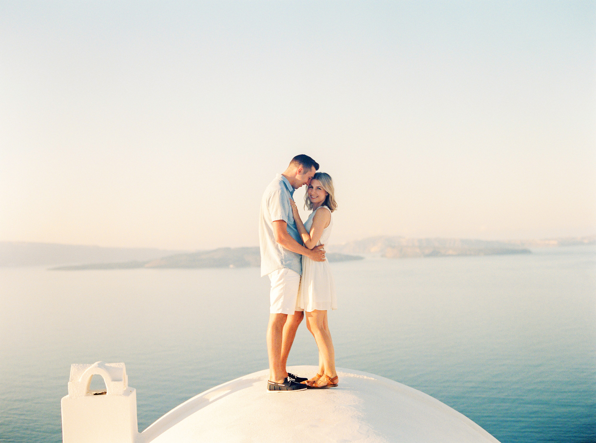 Our santorini engagement shoot