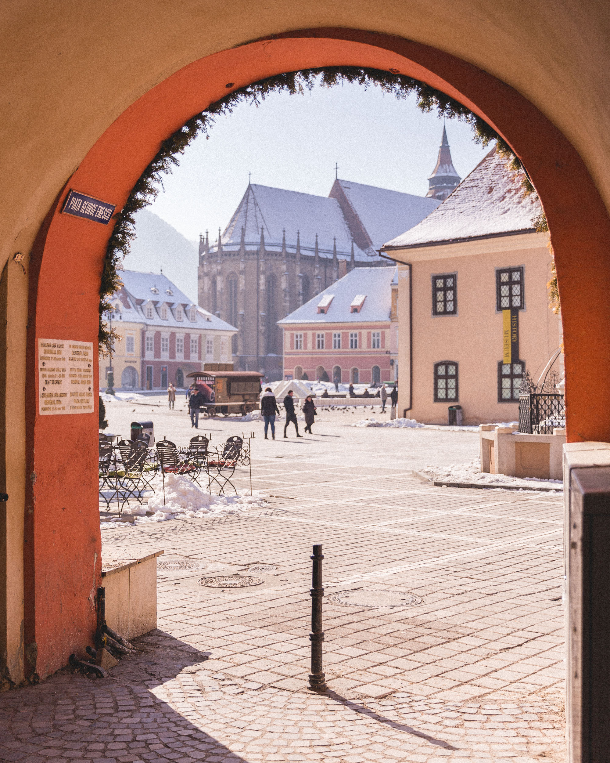 The pastel city of Brasov, Transylvania, Romania