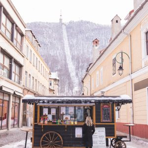 Food and drink carts in Brasov, Transylvania, Romania