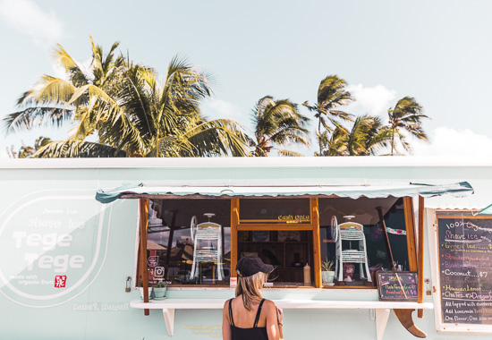 Tege Tege Hawaiian Shave Ice Truck in Kauai via Find Us Lost