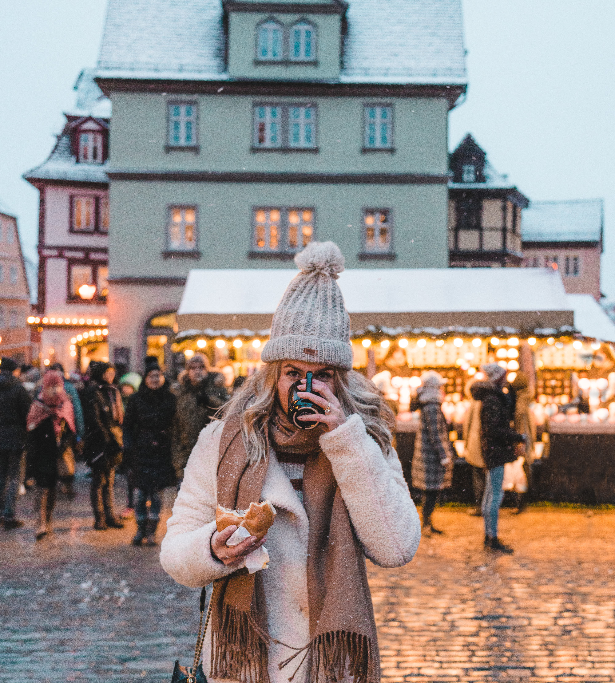 Gluhwein and german sausages at the rothenburg ob der tauber Germany Christmas Markets
