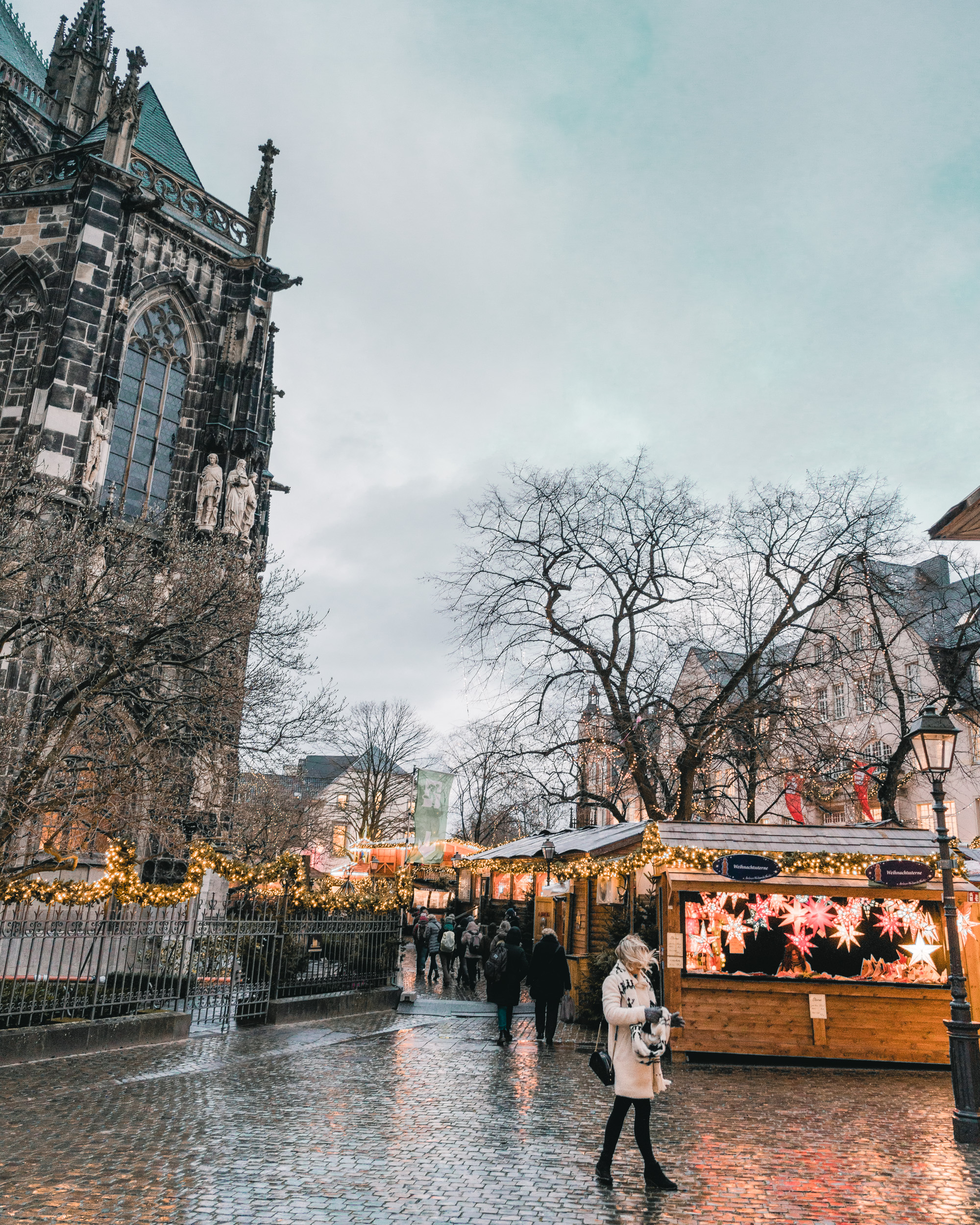the local christmas market in aachen germany near holland border