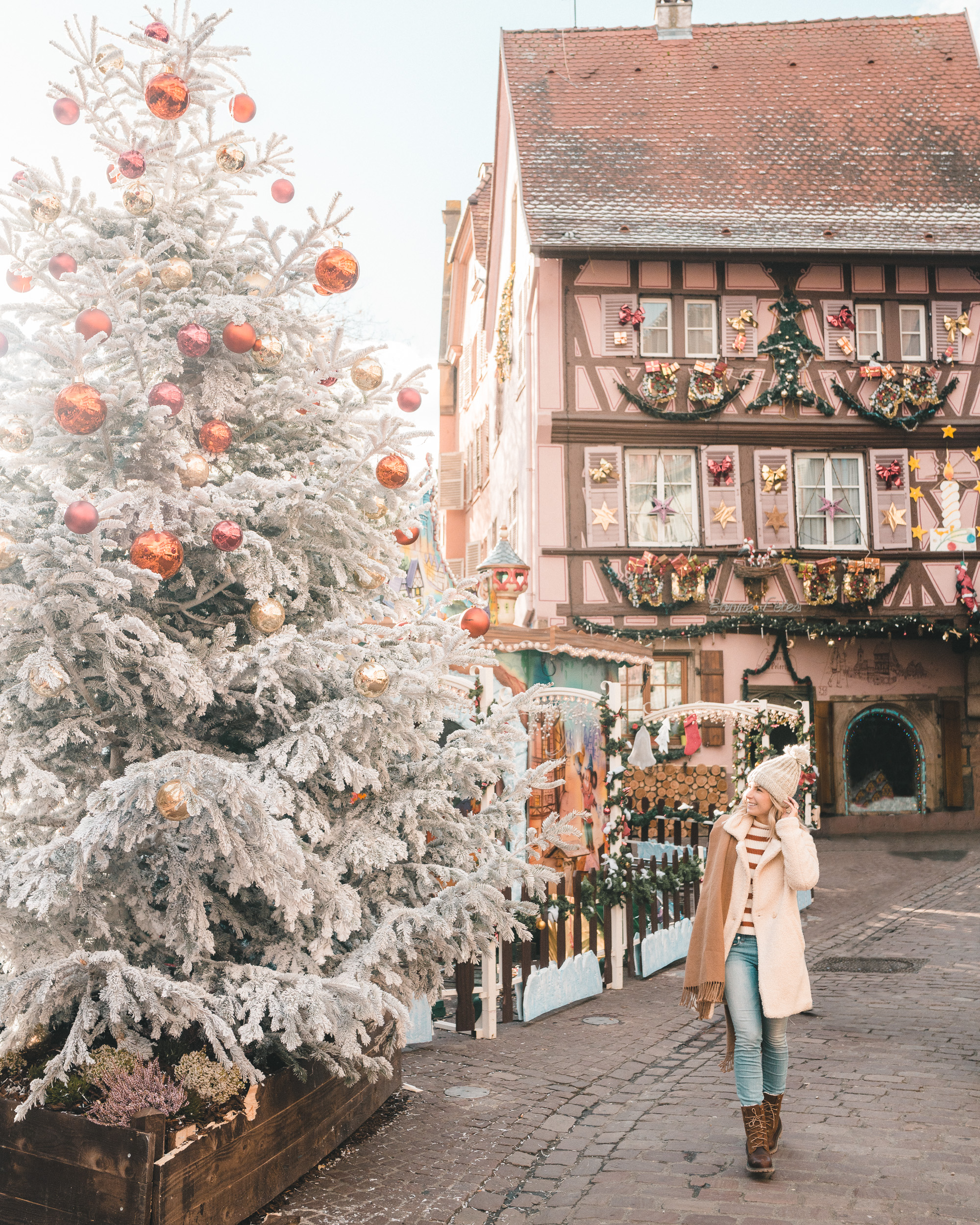 Christmas tree photo spot in Colmar France Alsace Winter Travel