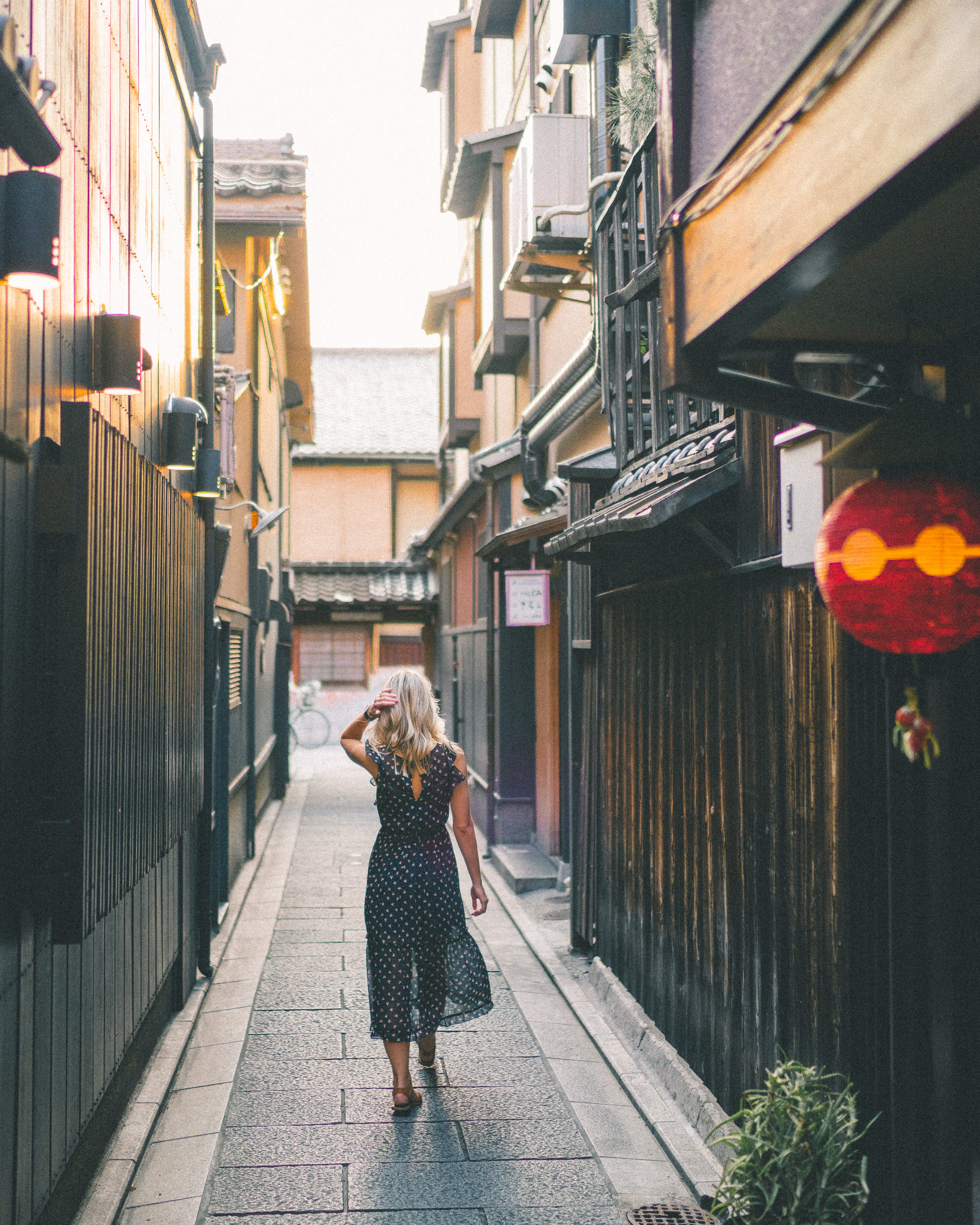 Backstreets of Shijo Dori in Kyoto, Japan