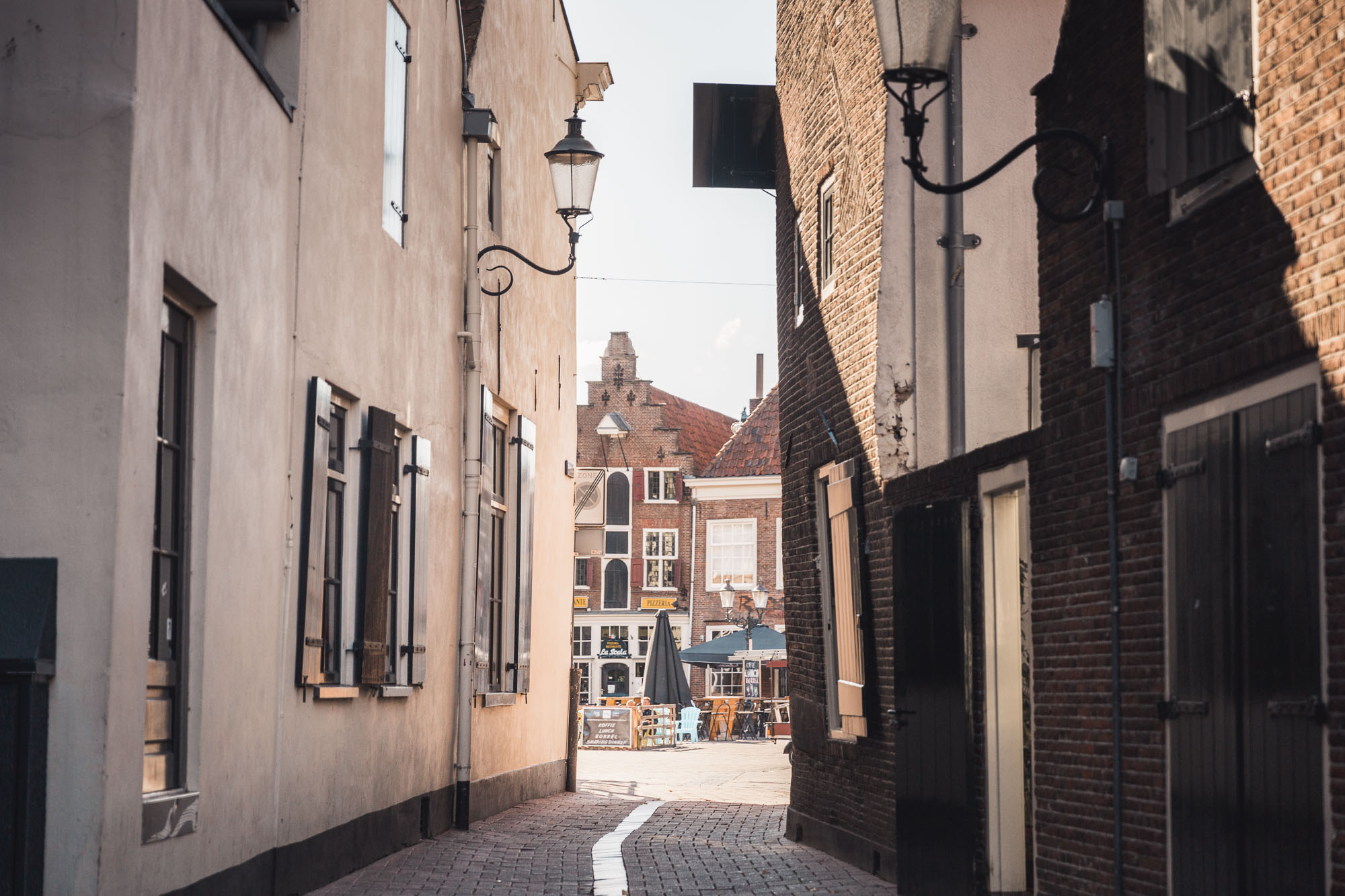 Old cobblestone streets in Amersfoort, Netherlands
