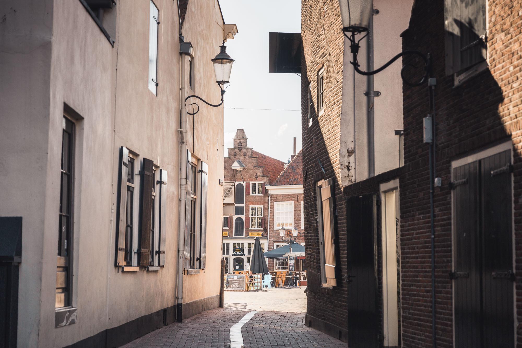 Old cobblestone streets in Amersfoort, Netherlands