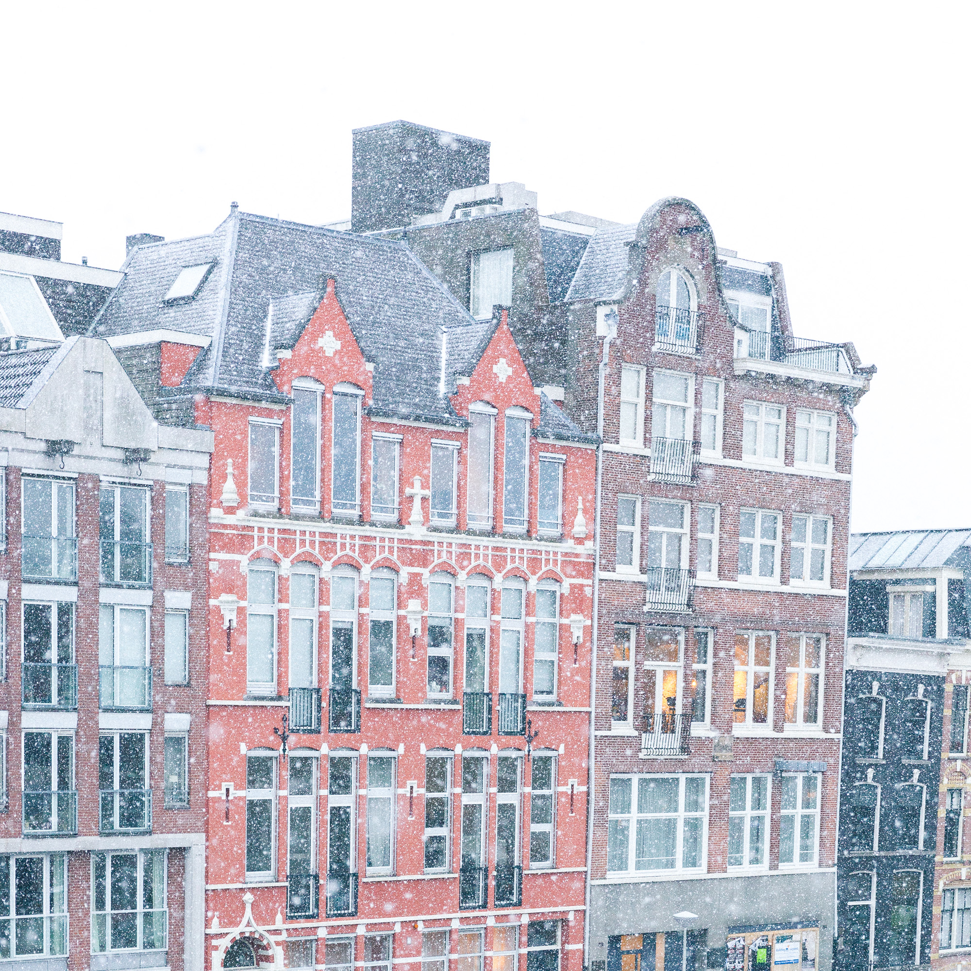 snow from our amsterdam apartment