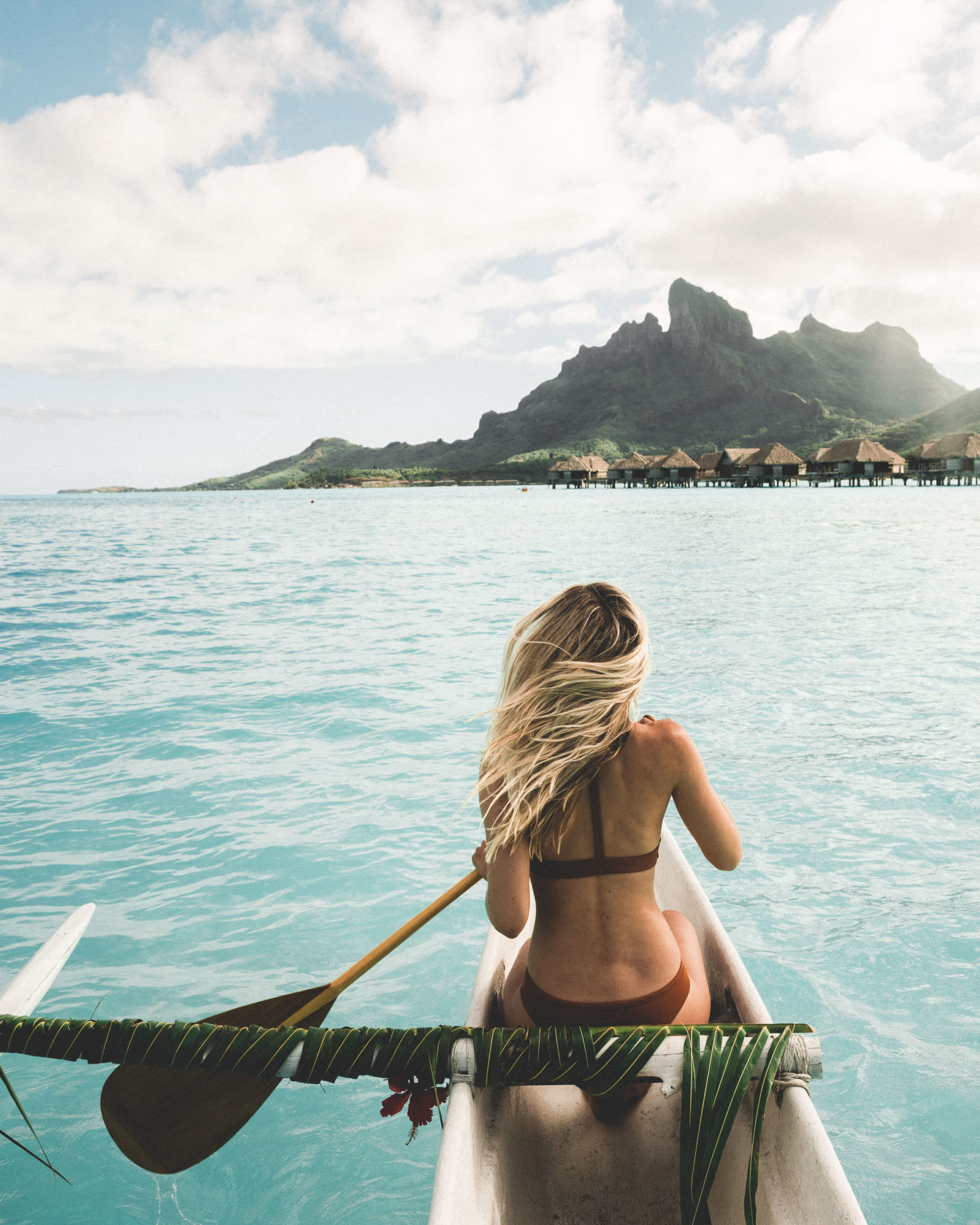 Canoeing at Four Seasons Bora Bora for our honeymoon via @finduslost