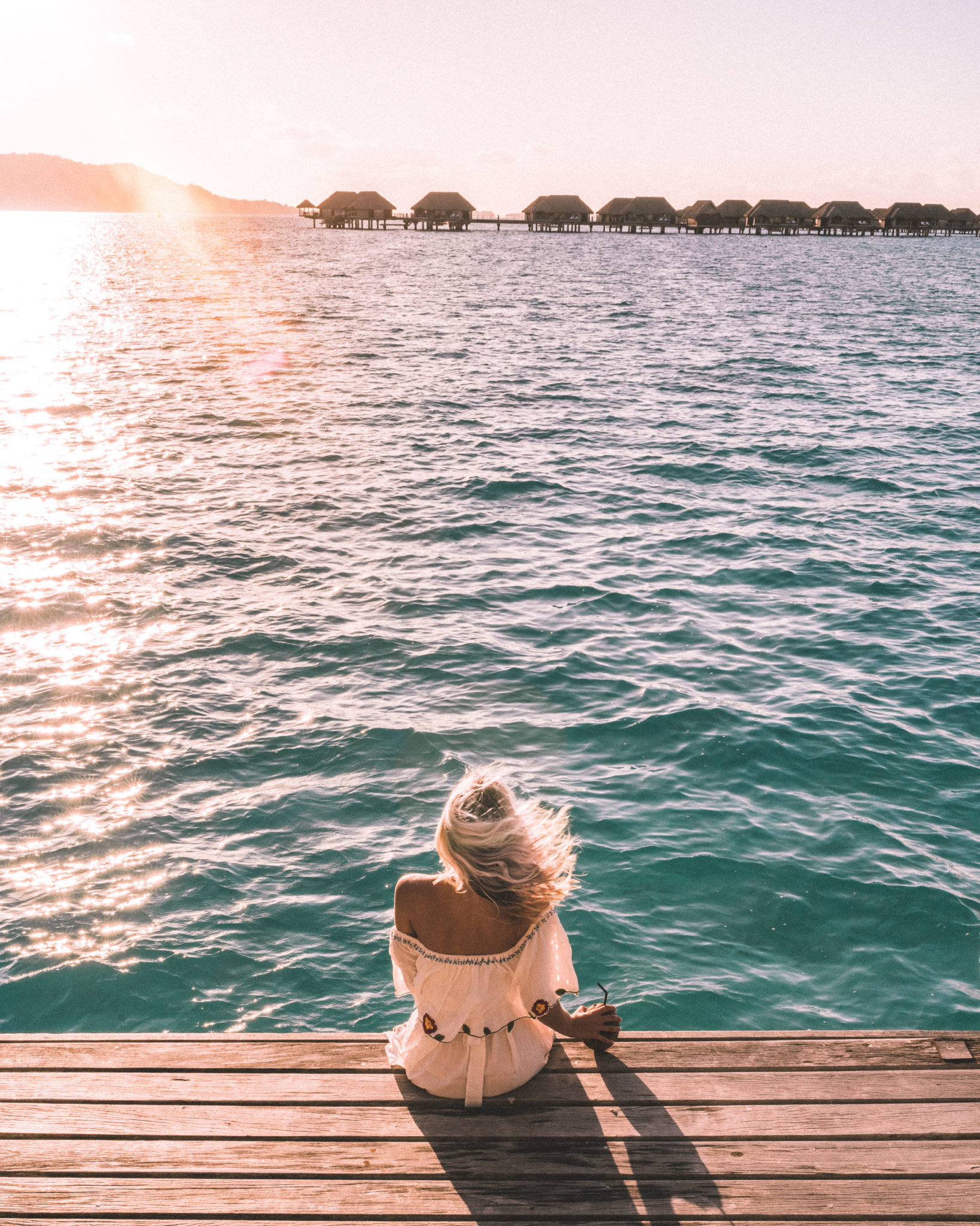 Watching the sunset at Four Seasons Bora Bora for our honeymoon via @finduslost