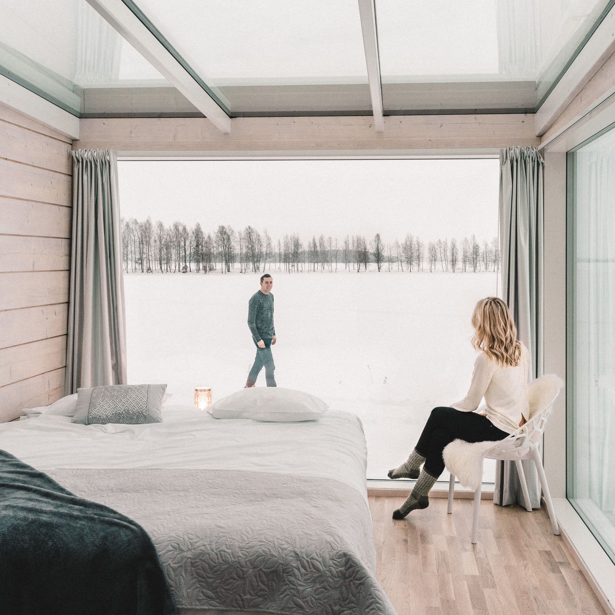 views of lapland from kemi seaside glass villas