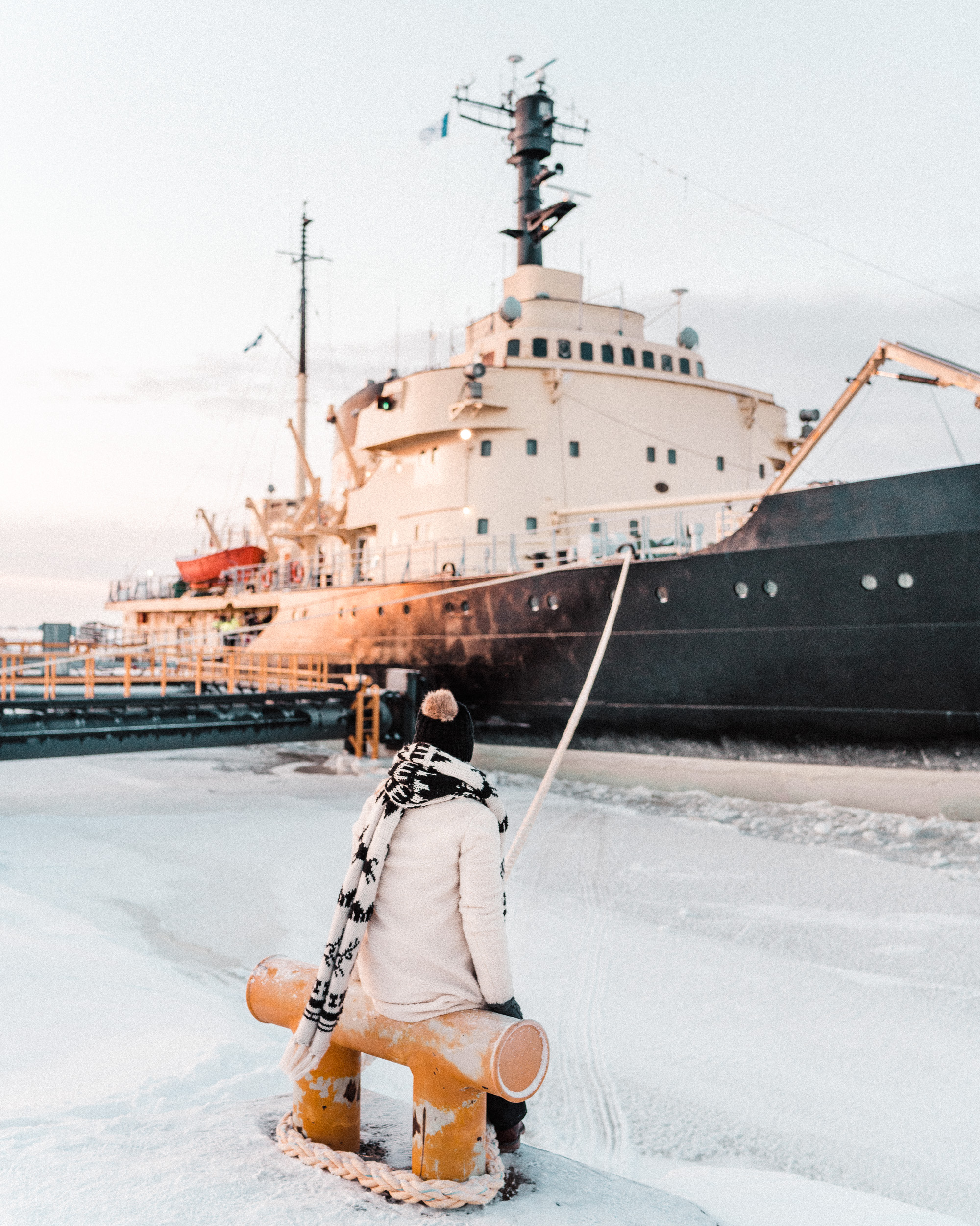 icebreaker sampo ship in kemi lapland finland