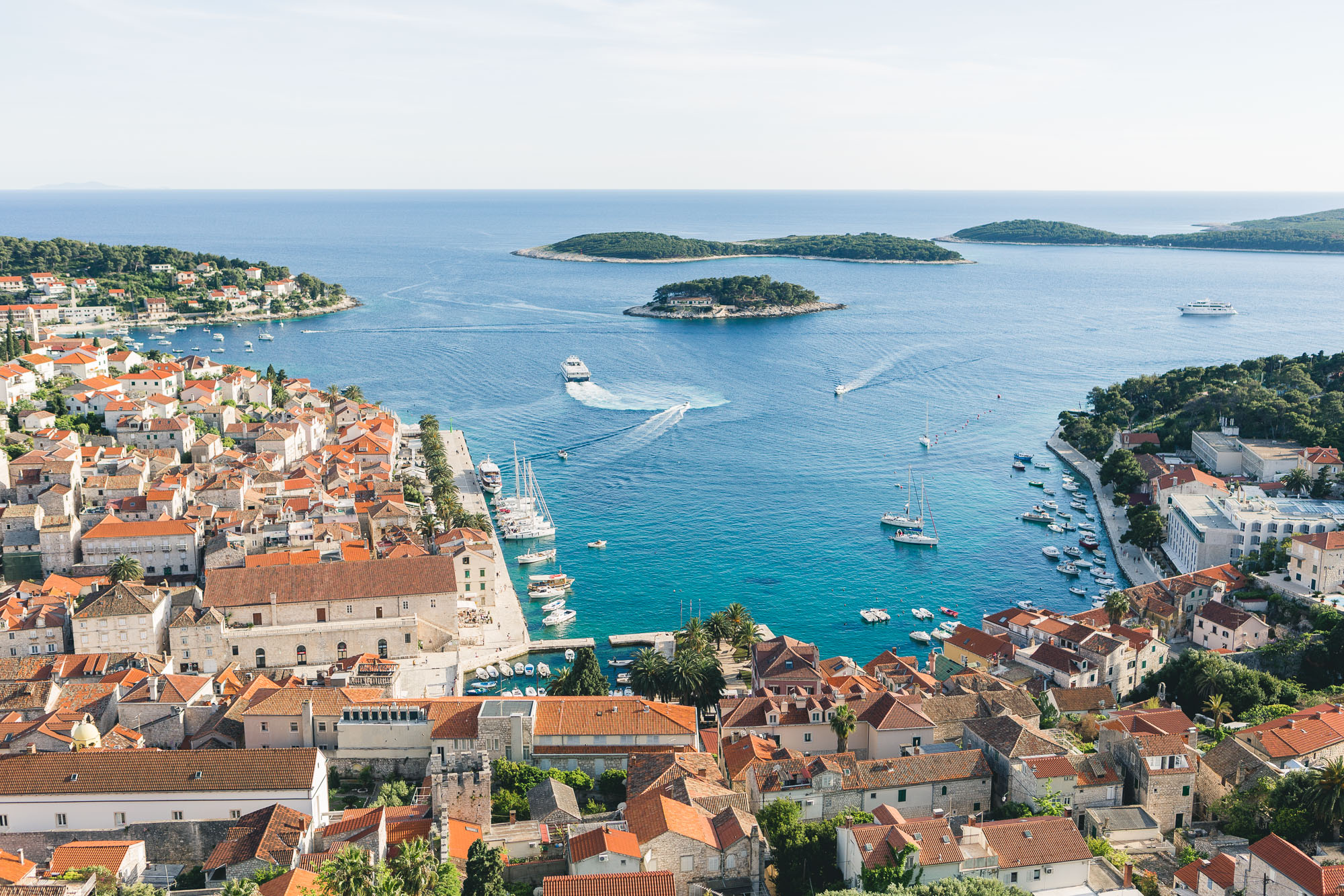 Castle views of Hvar Island, Croatia