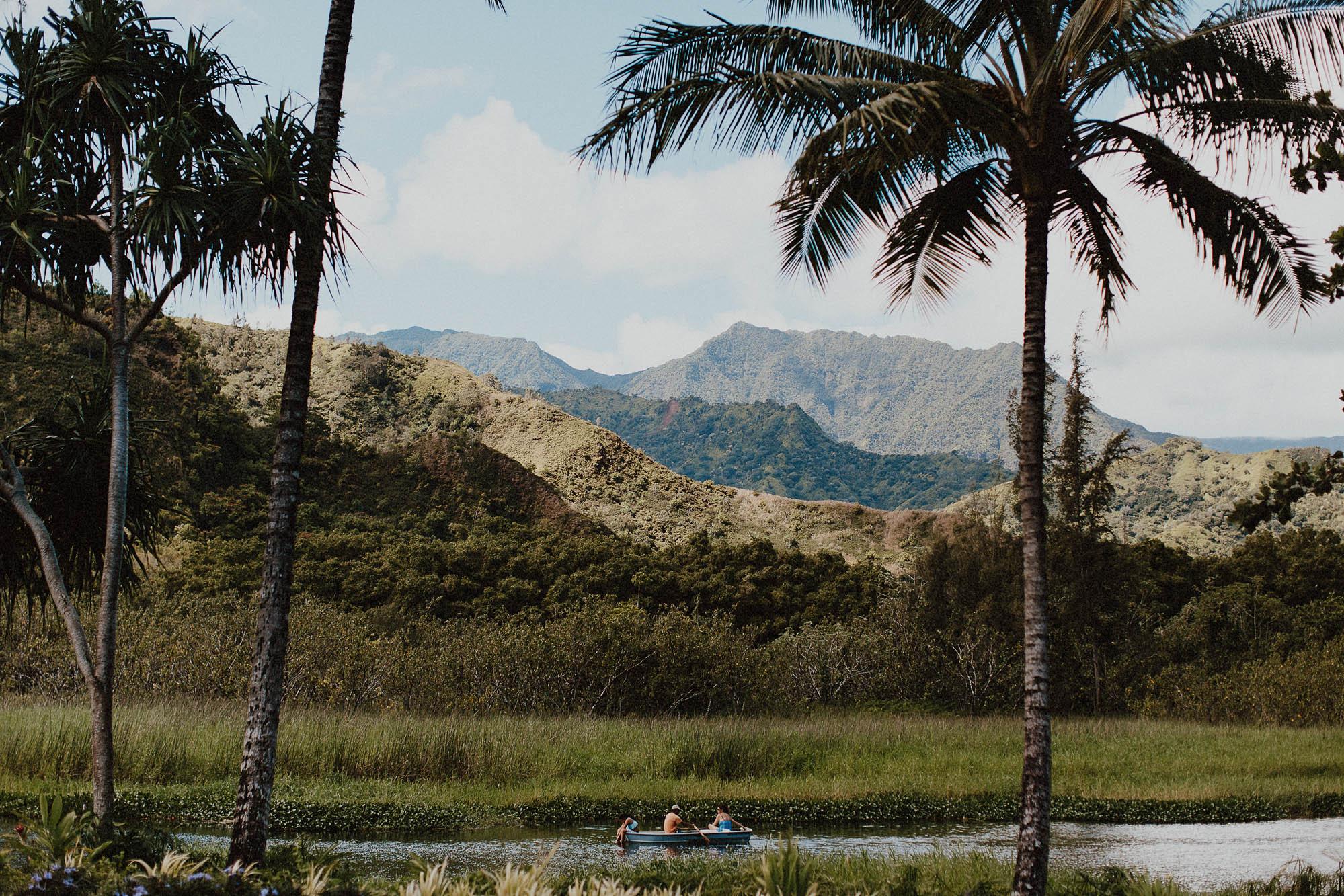Views of north shore hanalei kauai mountain range