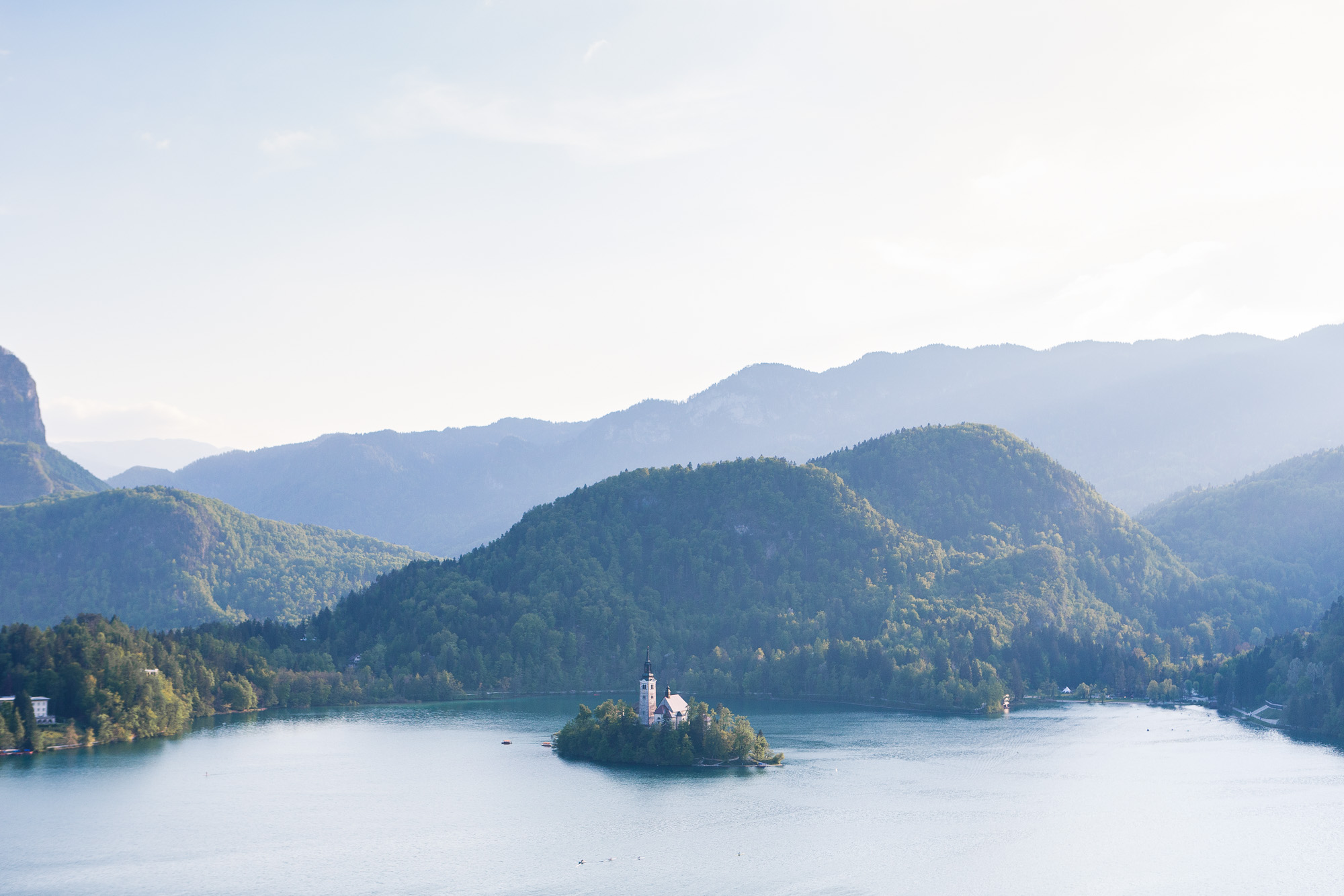 Views from Lake Bled Castle, Slovenia