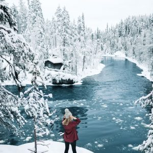 Oulanka National Park in the winter Finland