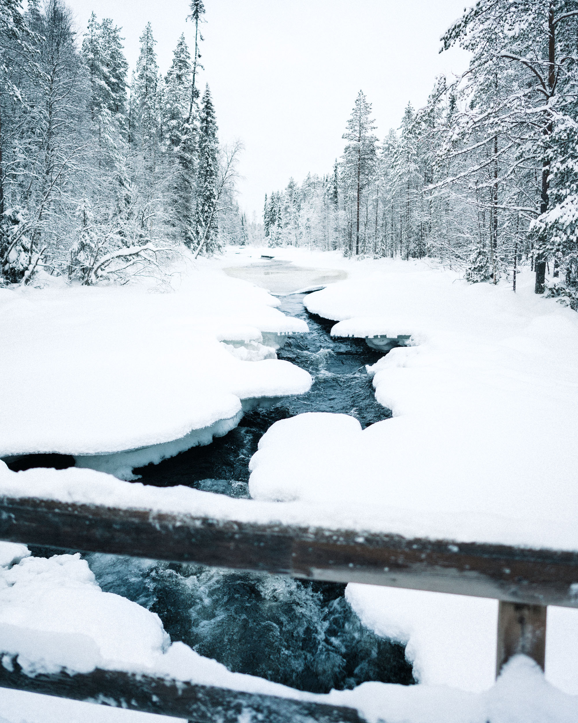 Oulanka National Park bridges in the winter Finland