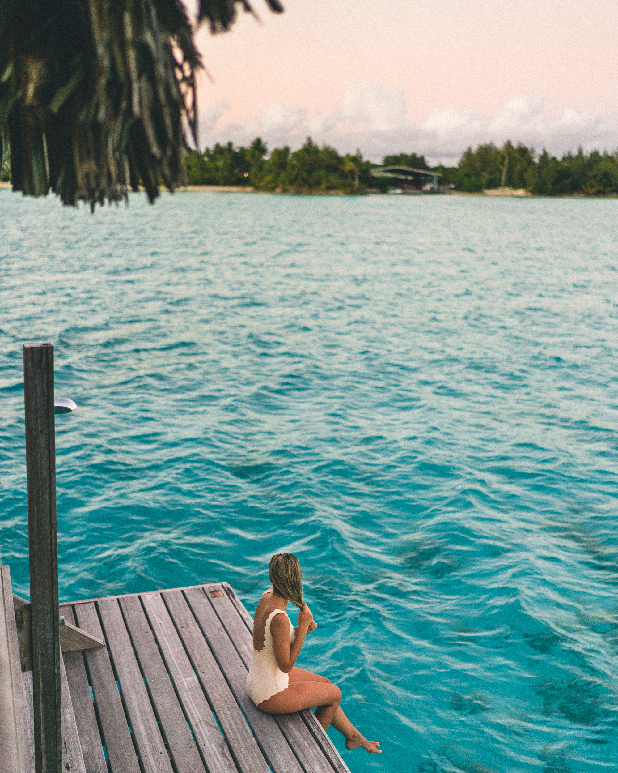 Four Seasons Bora Bora at sunset in Tahiti Honeymoon