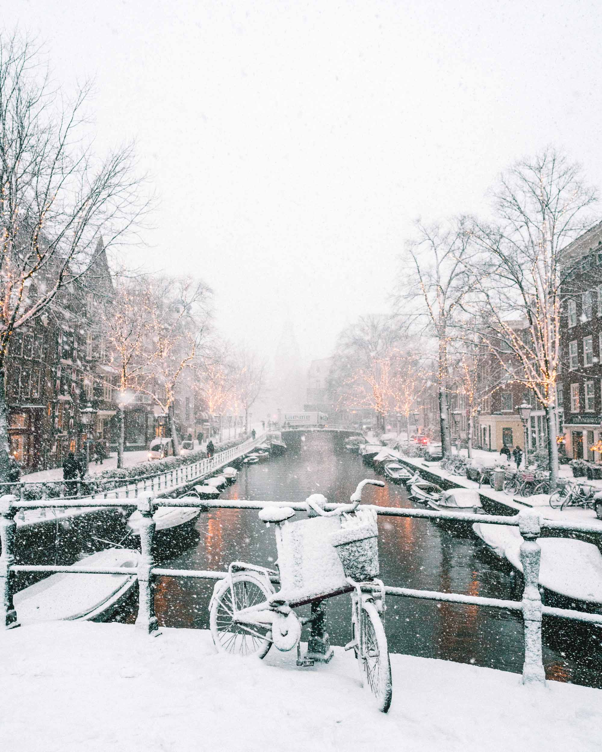 Snow in Amsterdam by Selena Taylor of Find Us Lost Travel Lifestyle Blog