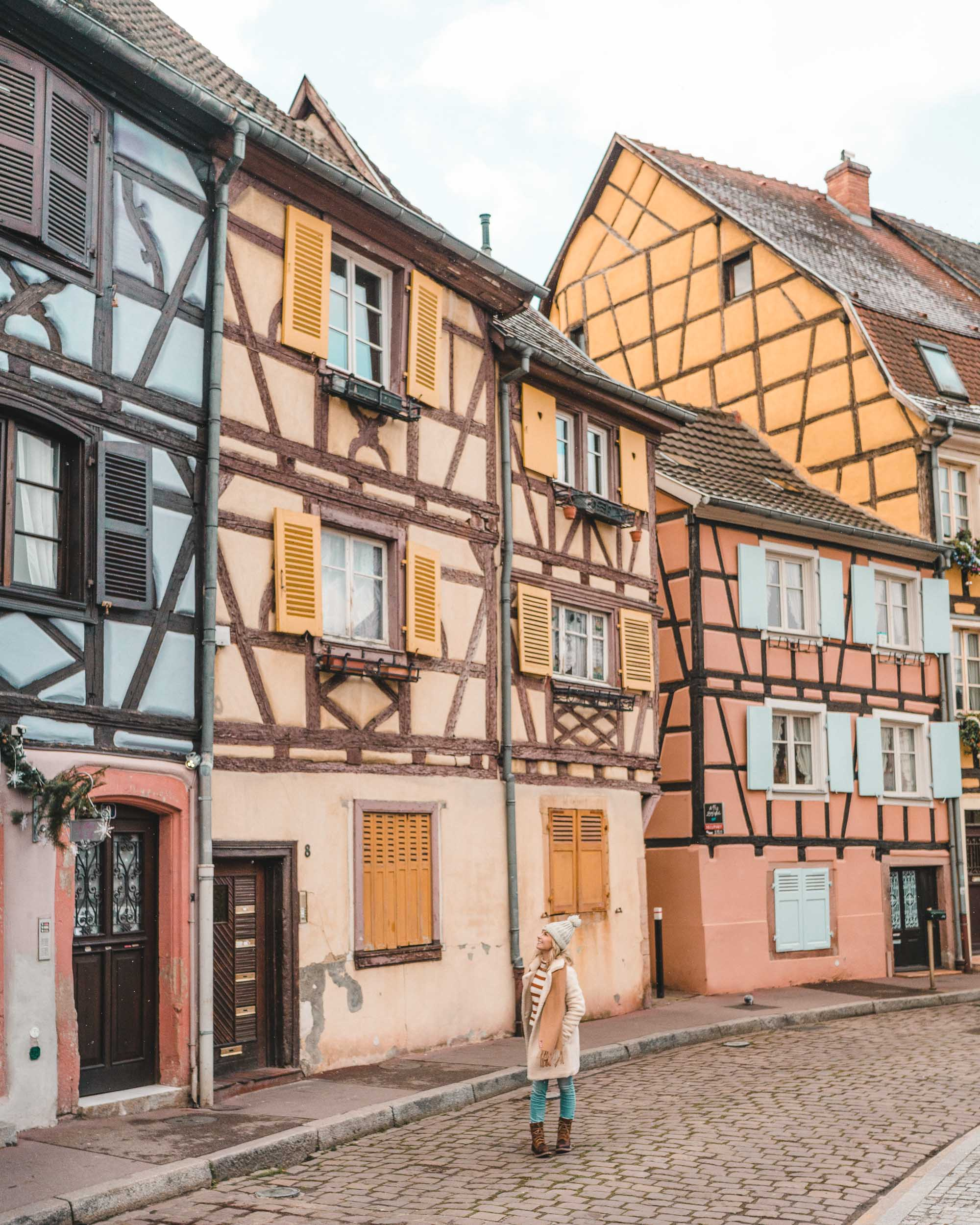 pastel houses on the canals of colmar france alsace