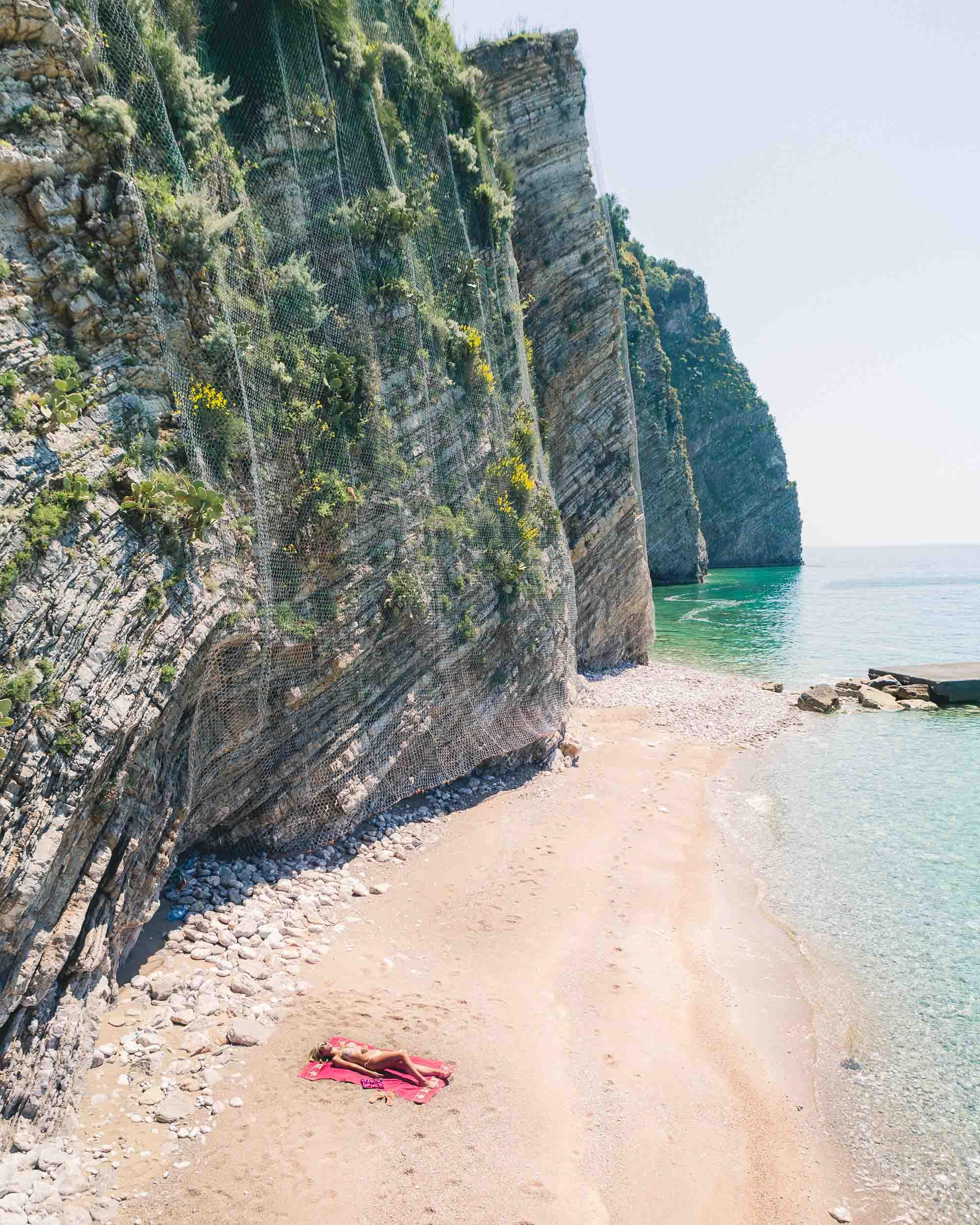 Sveti Nicola beach in summer, Budva, Montenegro